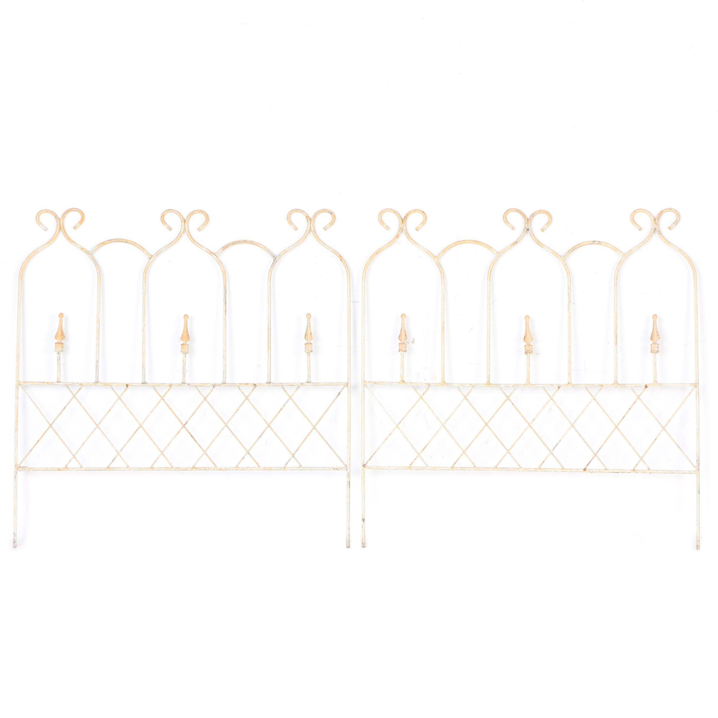 Wrought Iron Garden Edging Fence Panels