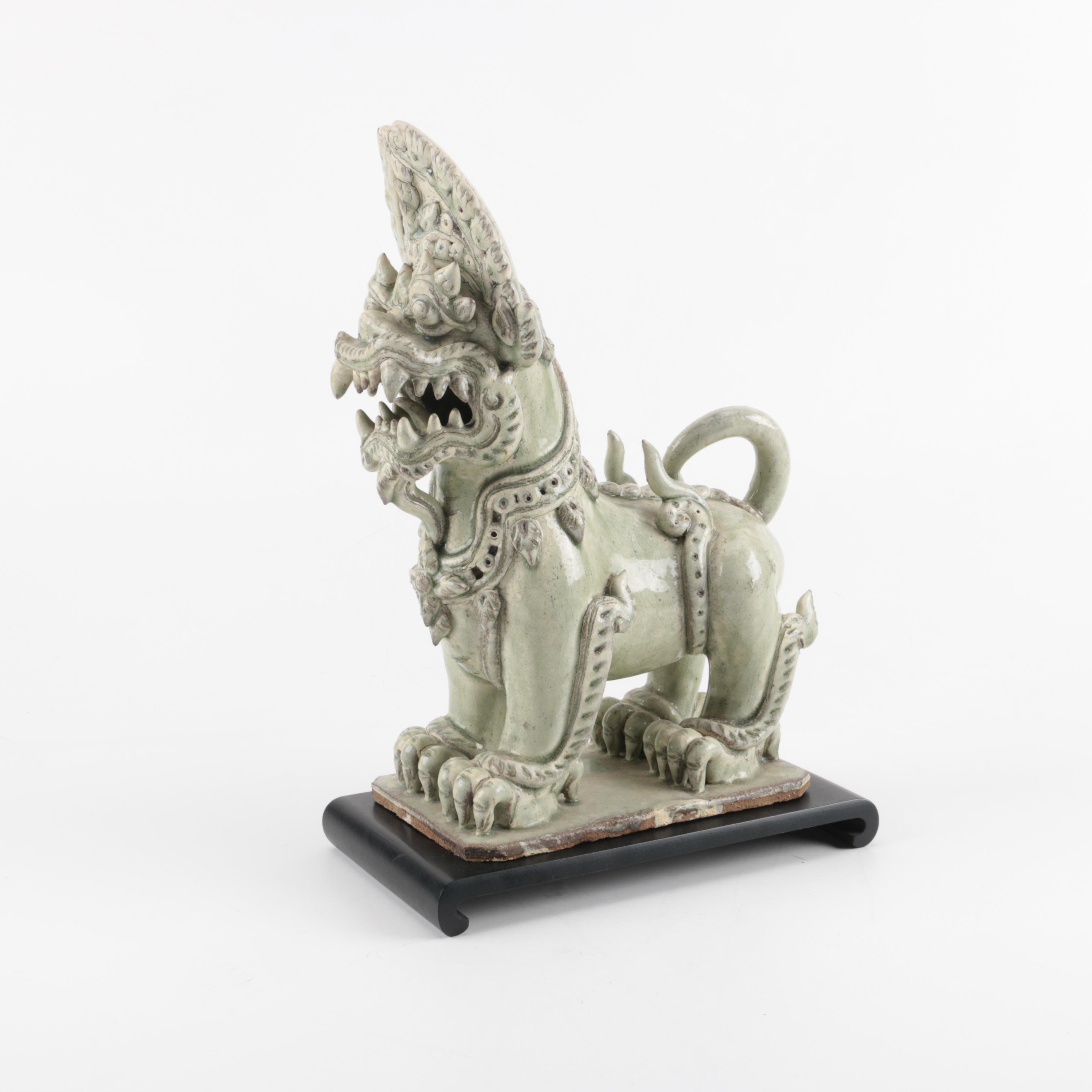 Thai Guardian Lion Sculpture
