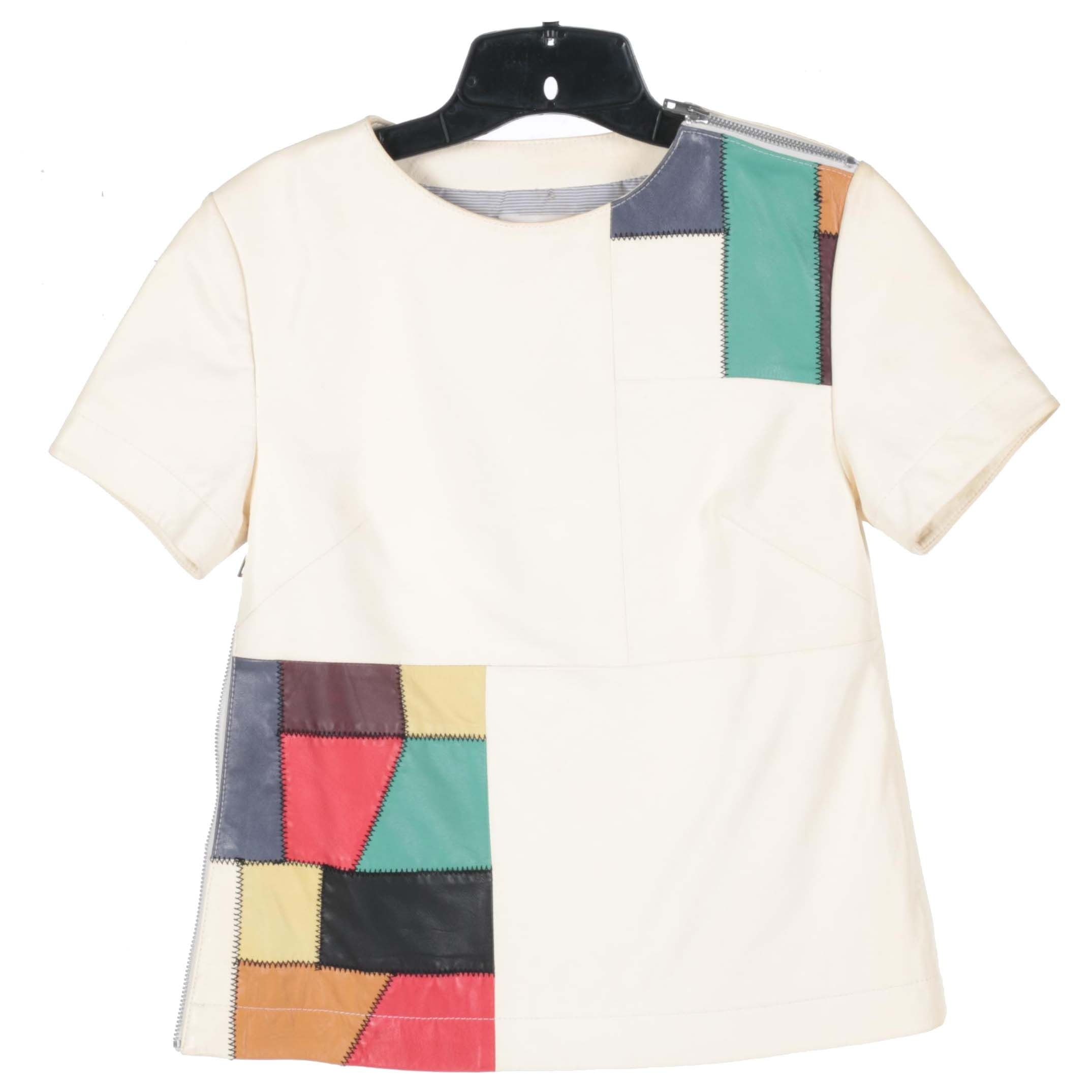 Women's Patched Leather Shirt by Band of Outsiders