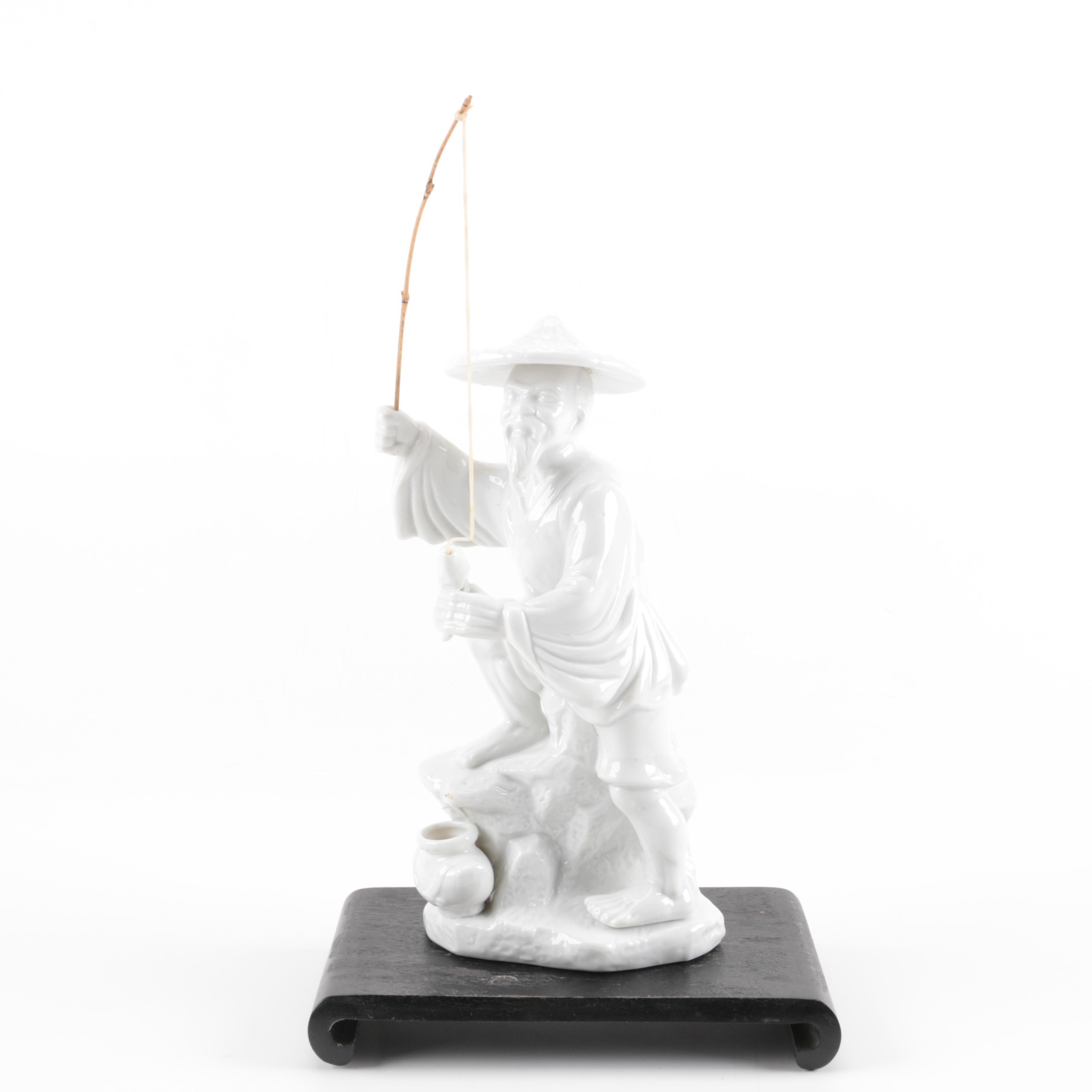 Chinese Ceramic Fisherman Figurine