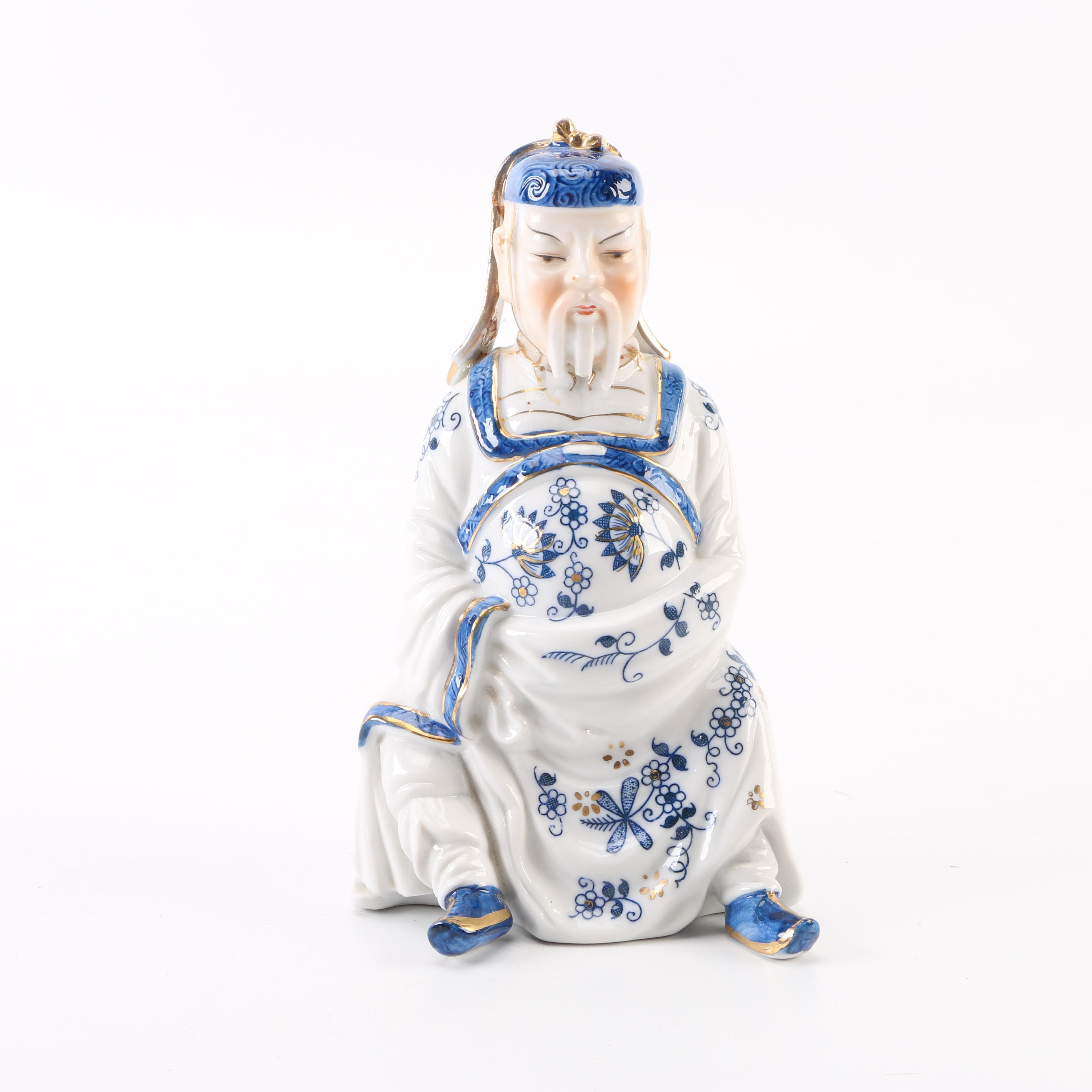 Vienna Woods White and Blue Chinese Figurine