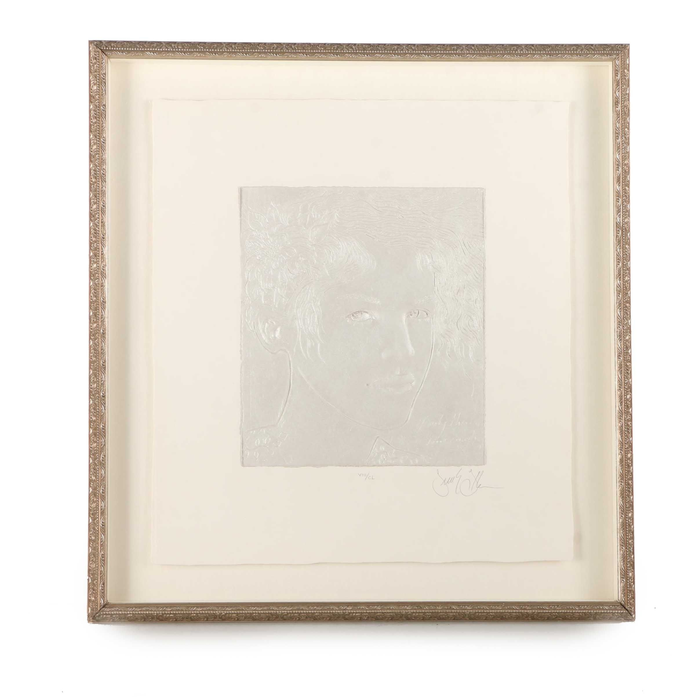 S. E. Gallo Limited Edition Relief Print on Canvas of a Woman