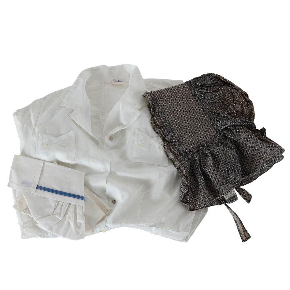 Vintage Nurse Uniform and Printed Cotton Bonnet