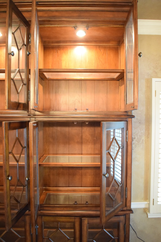 Tall Glass Front Lighted China Cabinet   EBTH