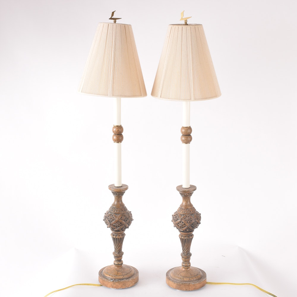 Tall Columnar Style Table Lamps