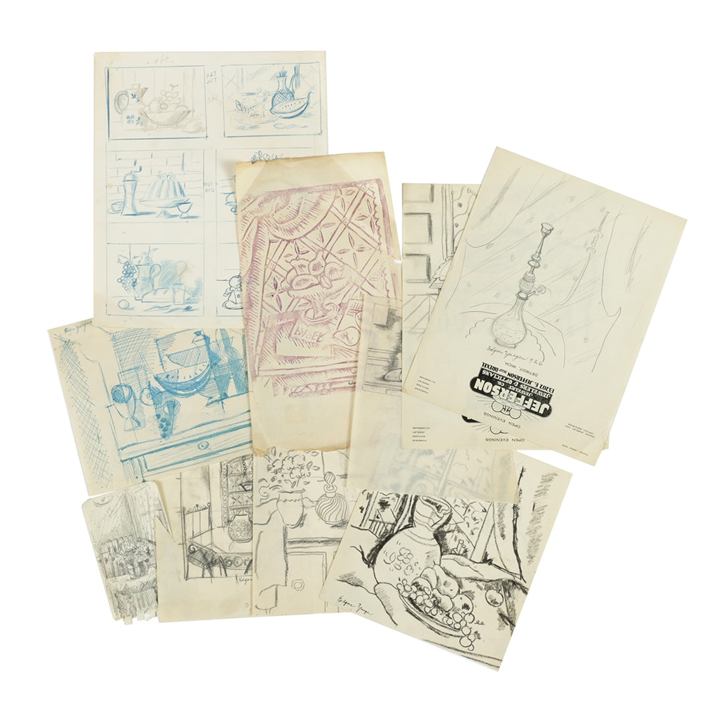Assortment of Edgar Yaeger Sketches