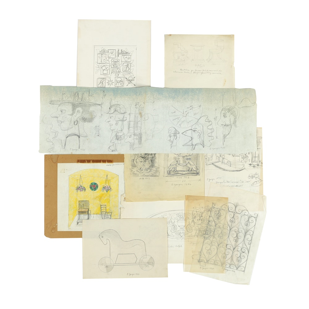 Collection of Edgar Yaeger Sketches