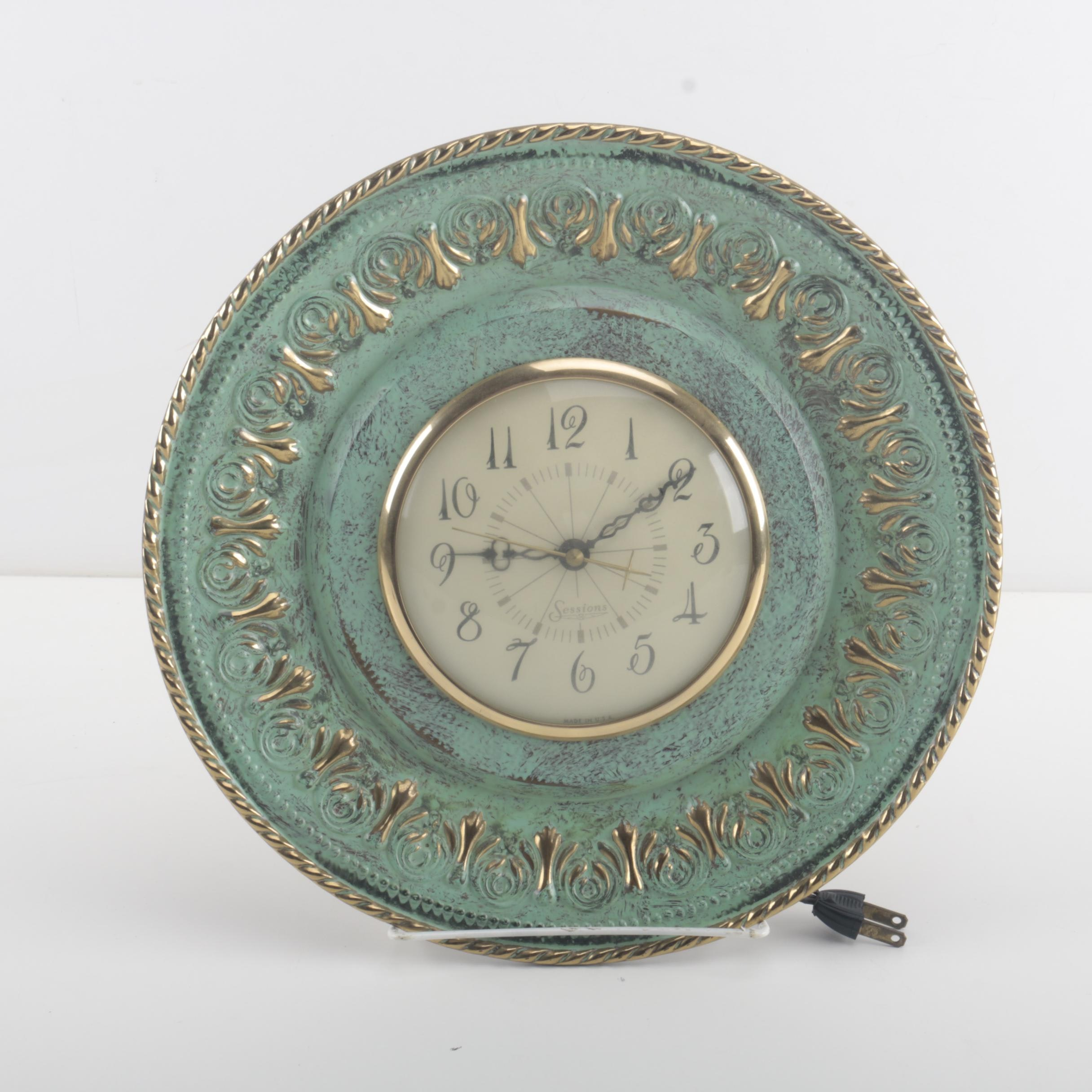 An Electric Sessions Clock with Decorative Case