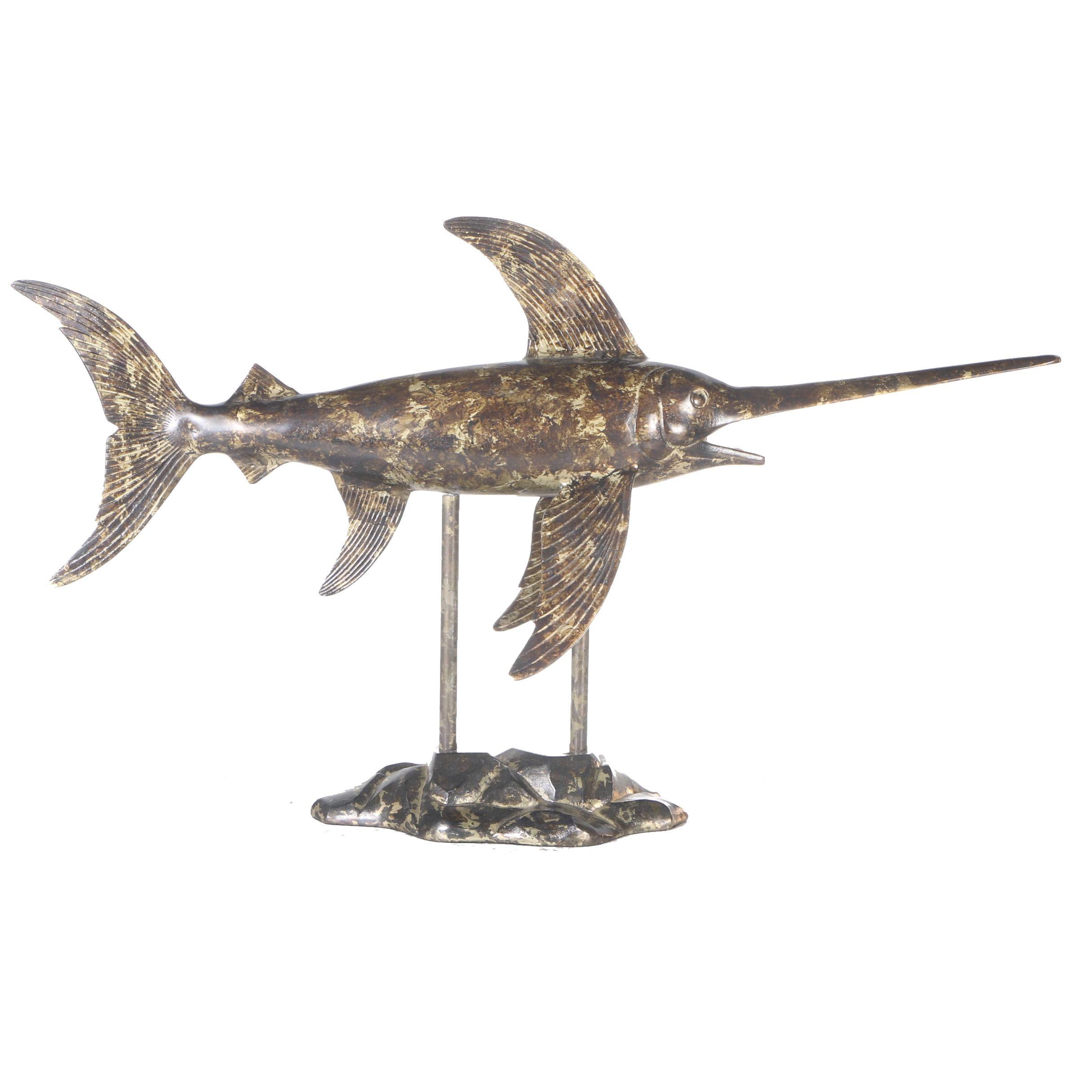 Large Metal Marlin Sculpture