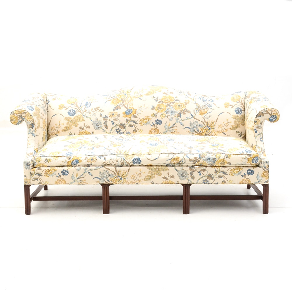 Chippendale Style Floral Sofa by Southwood