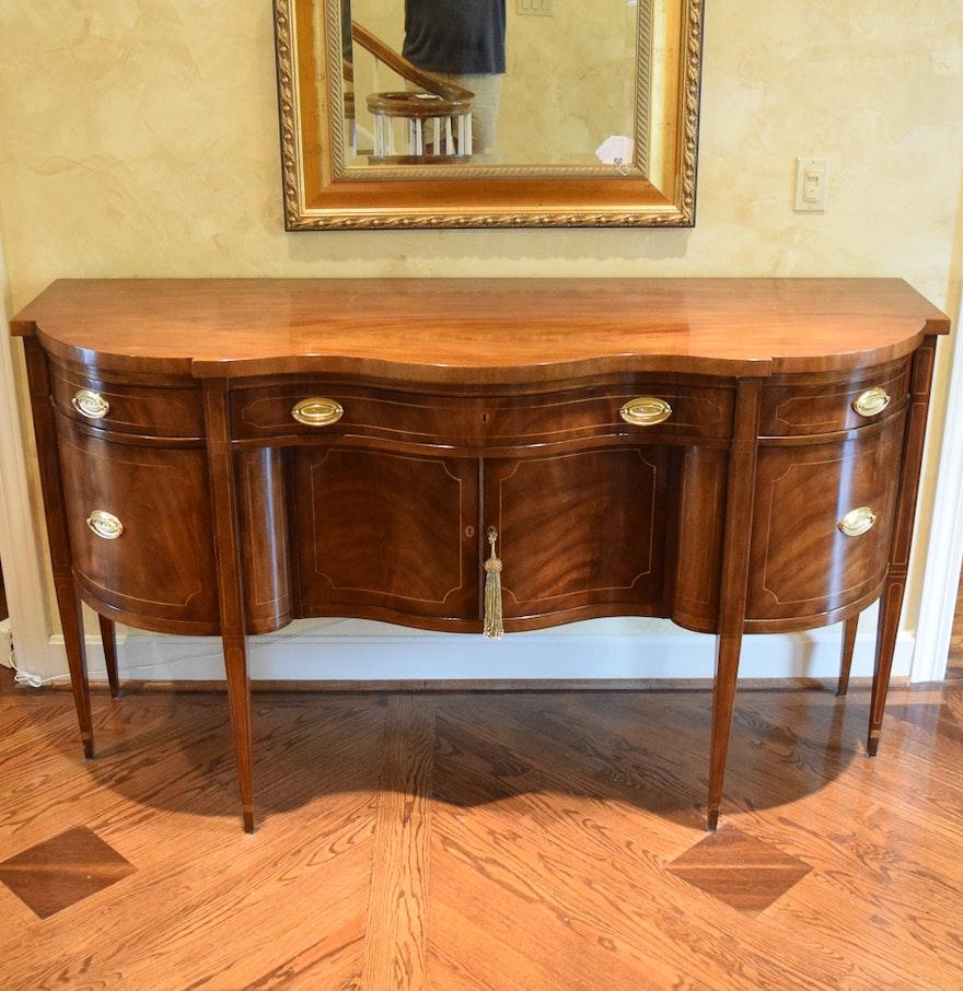 Hepplewhite Style Mahogany Sideboard by Baker Furniture : EBTH
