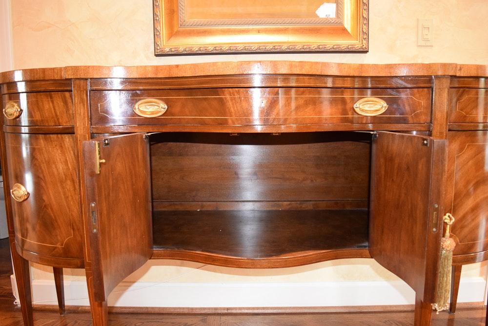 Hepplewhite Style Mahogany Sideboard By Baker Furniture Ebth