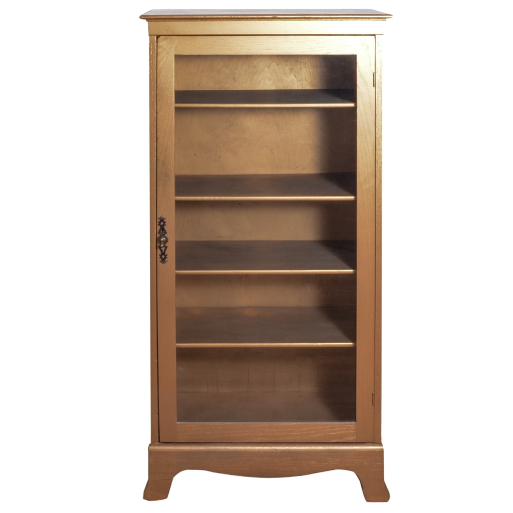 Gold Tone Painted Display Cabinet