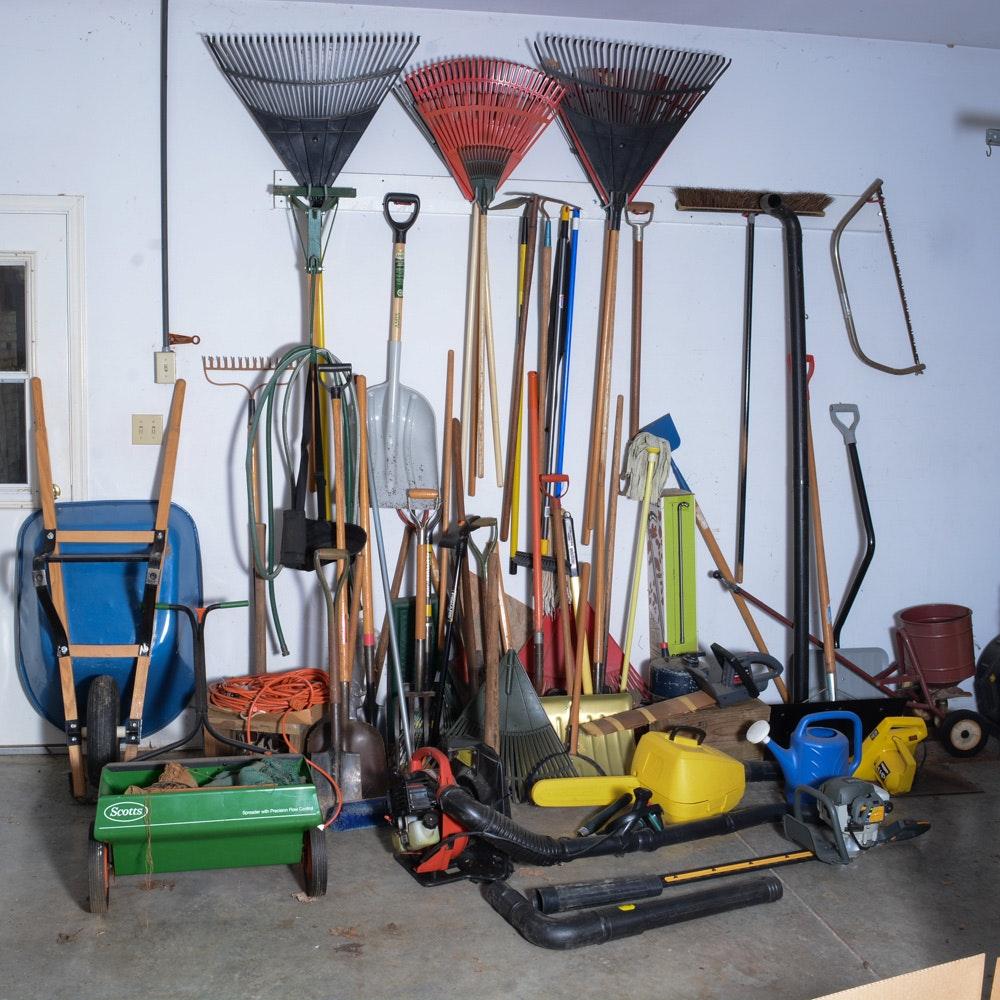 Vast Assortment of Garage Tools