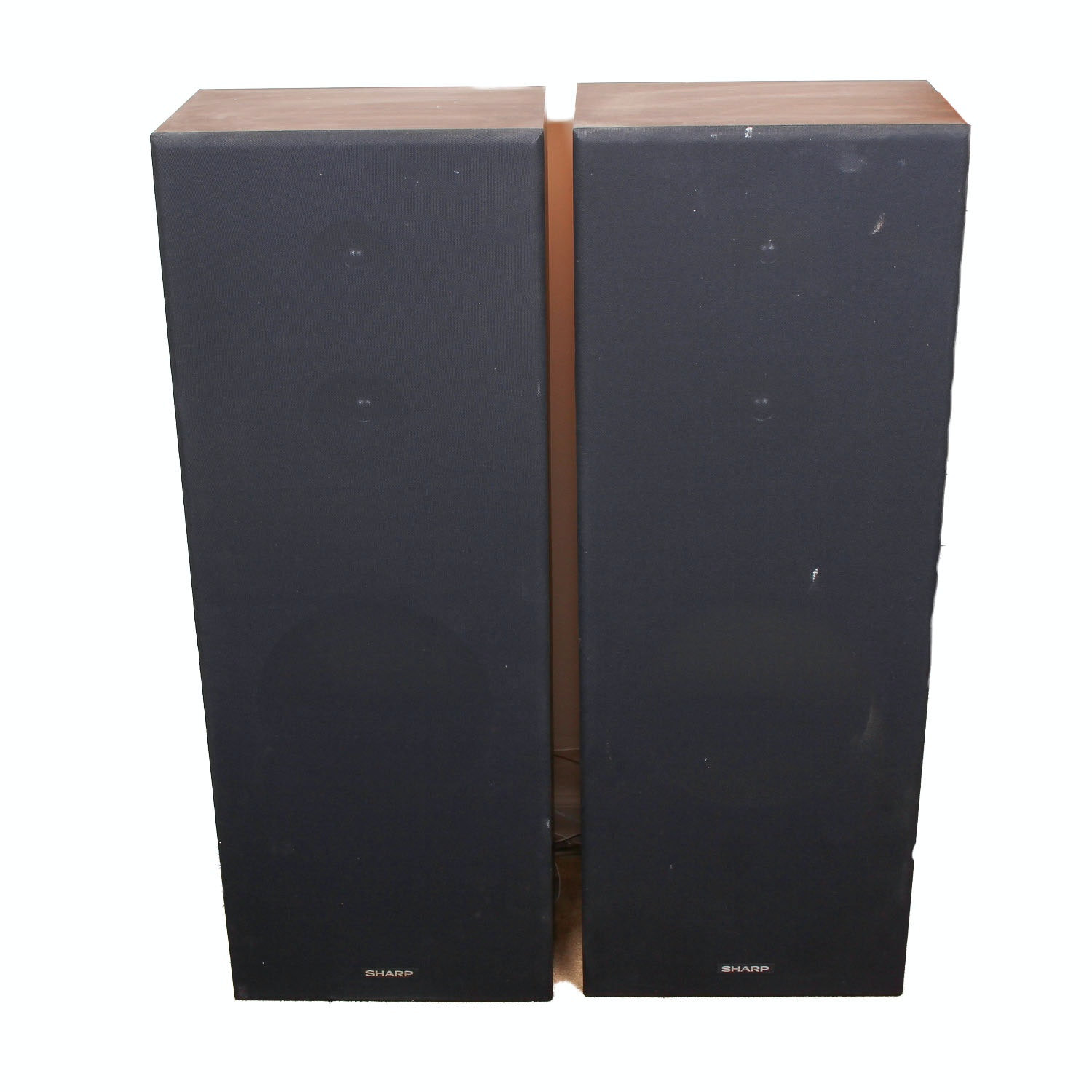 Two Sharp Stereo Speakers