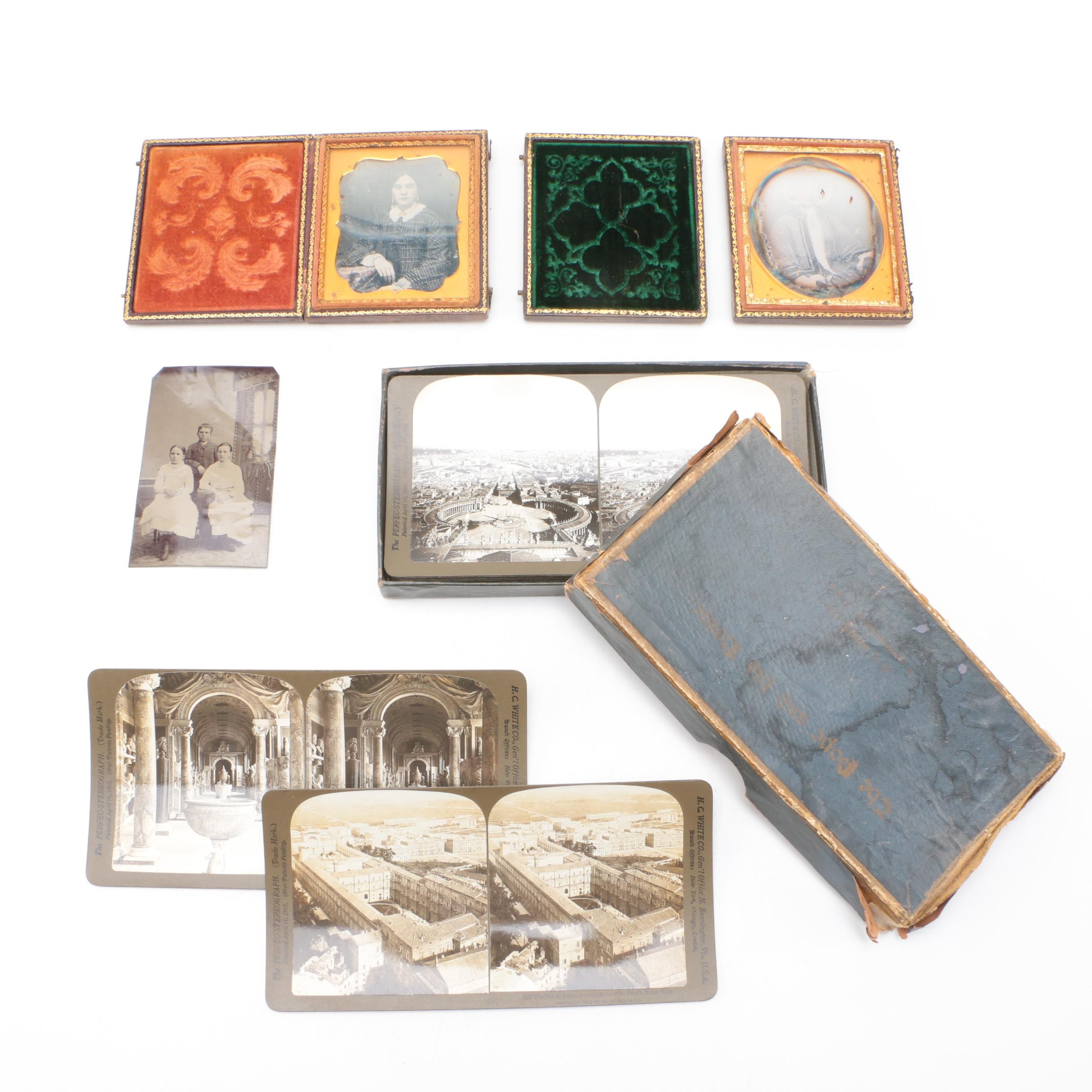 Wooden Storage Boxes with Vintage Photographs