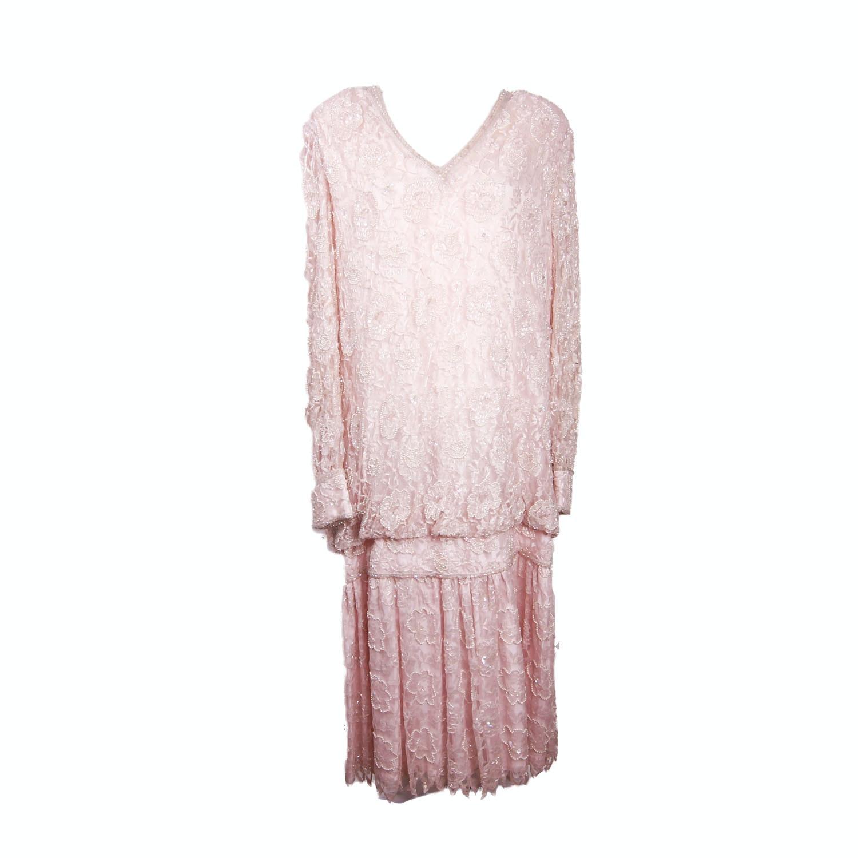 Vintage Judith Ann Plus Beaded Dress