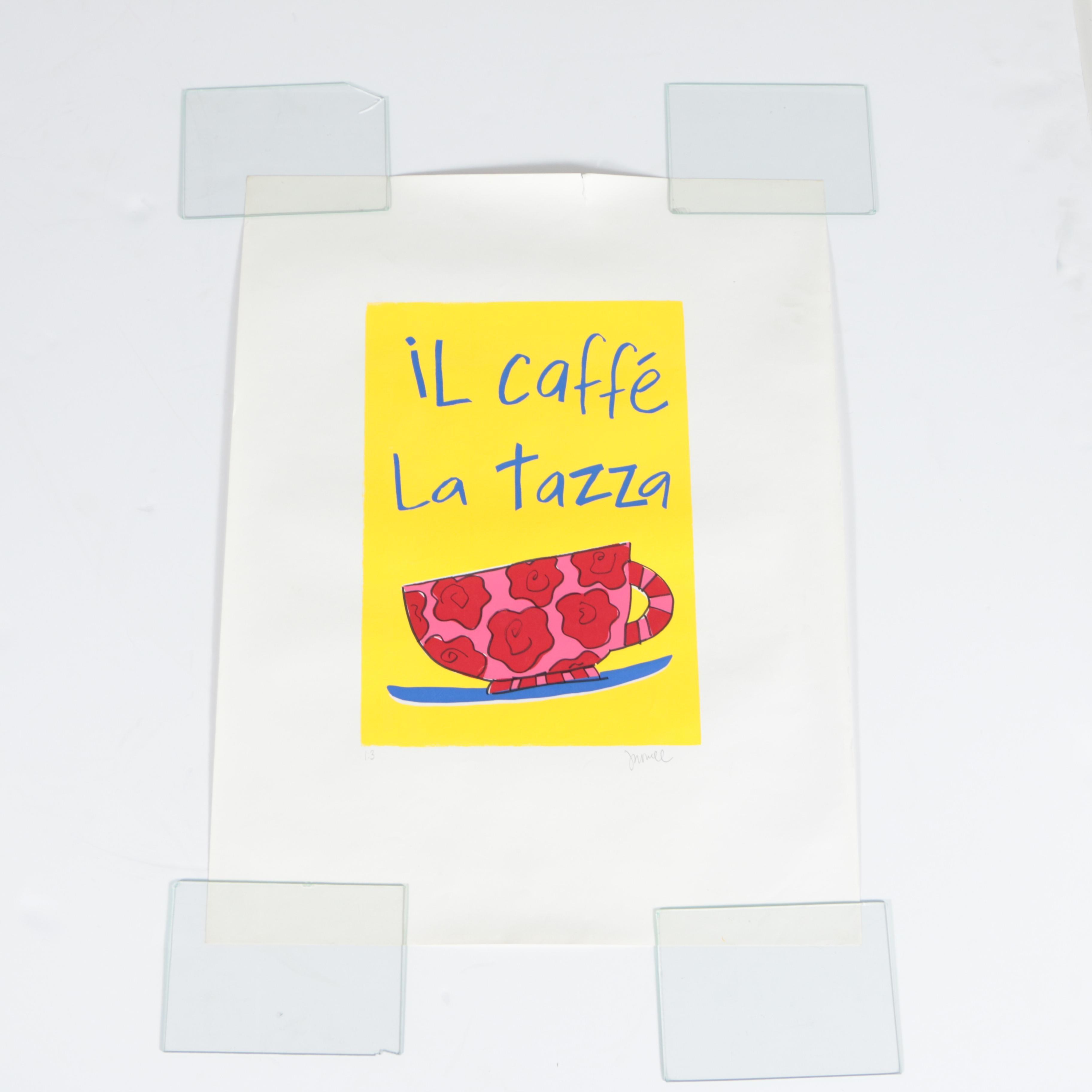 """Limited Edition Serigraph """"Il Caffe La Tazza"""""""