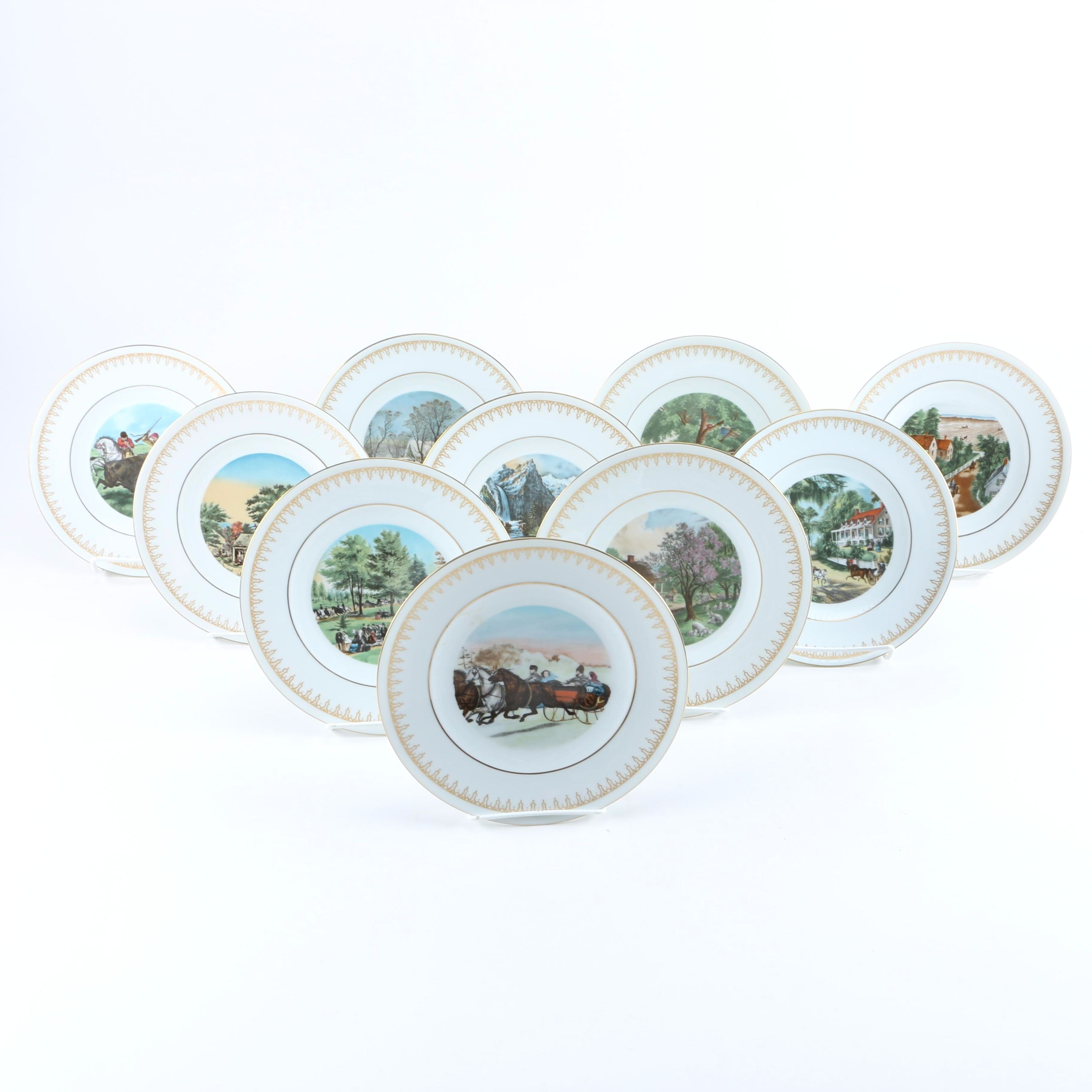 Bing & Grondahl and Currier & Ives Plate Collection for Danbury Mint