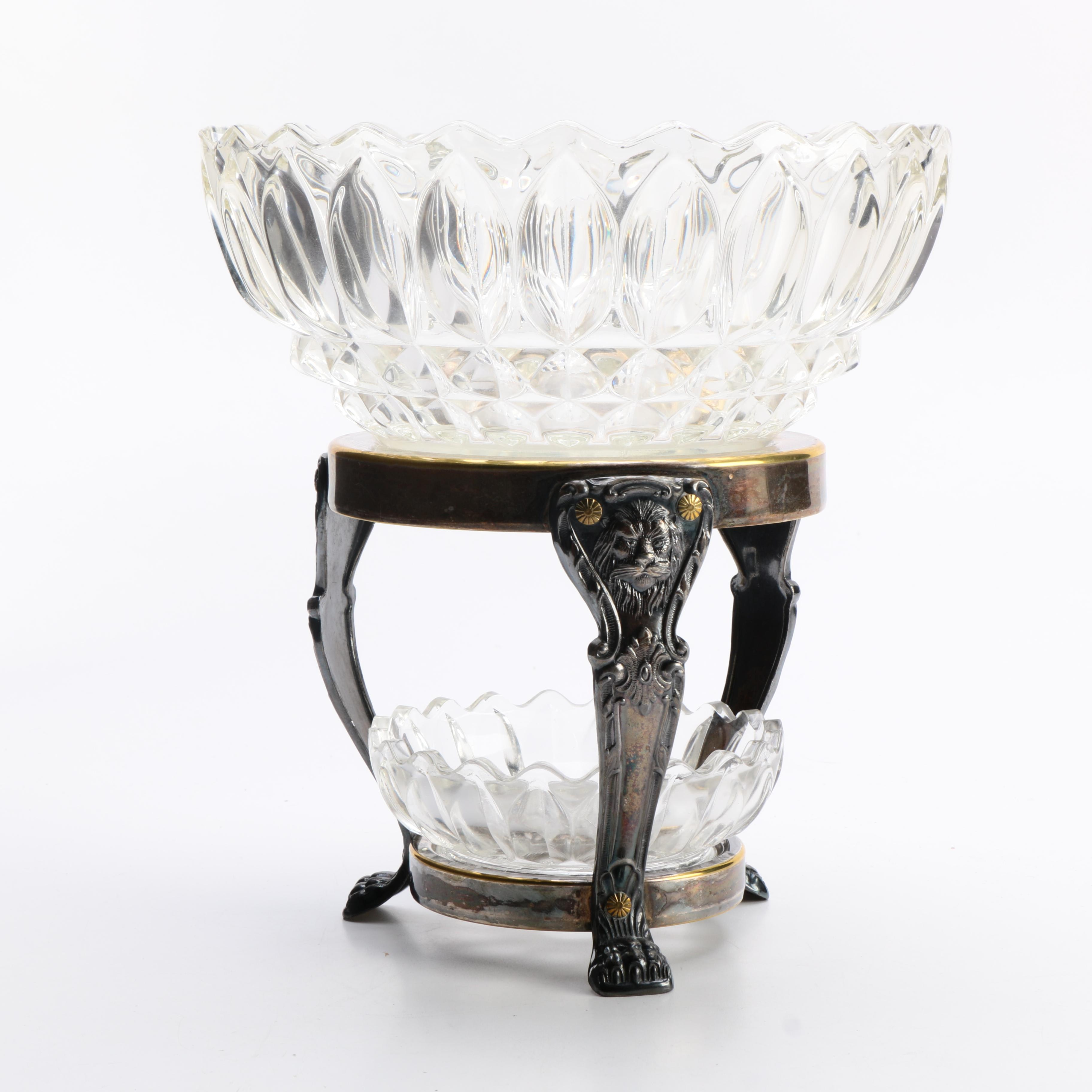 Ornate Two Tiered Candy Dish