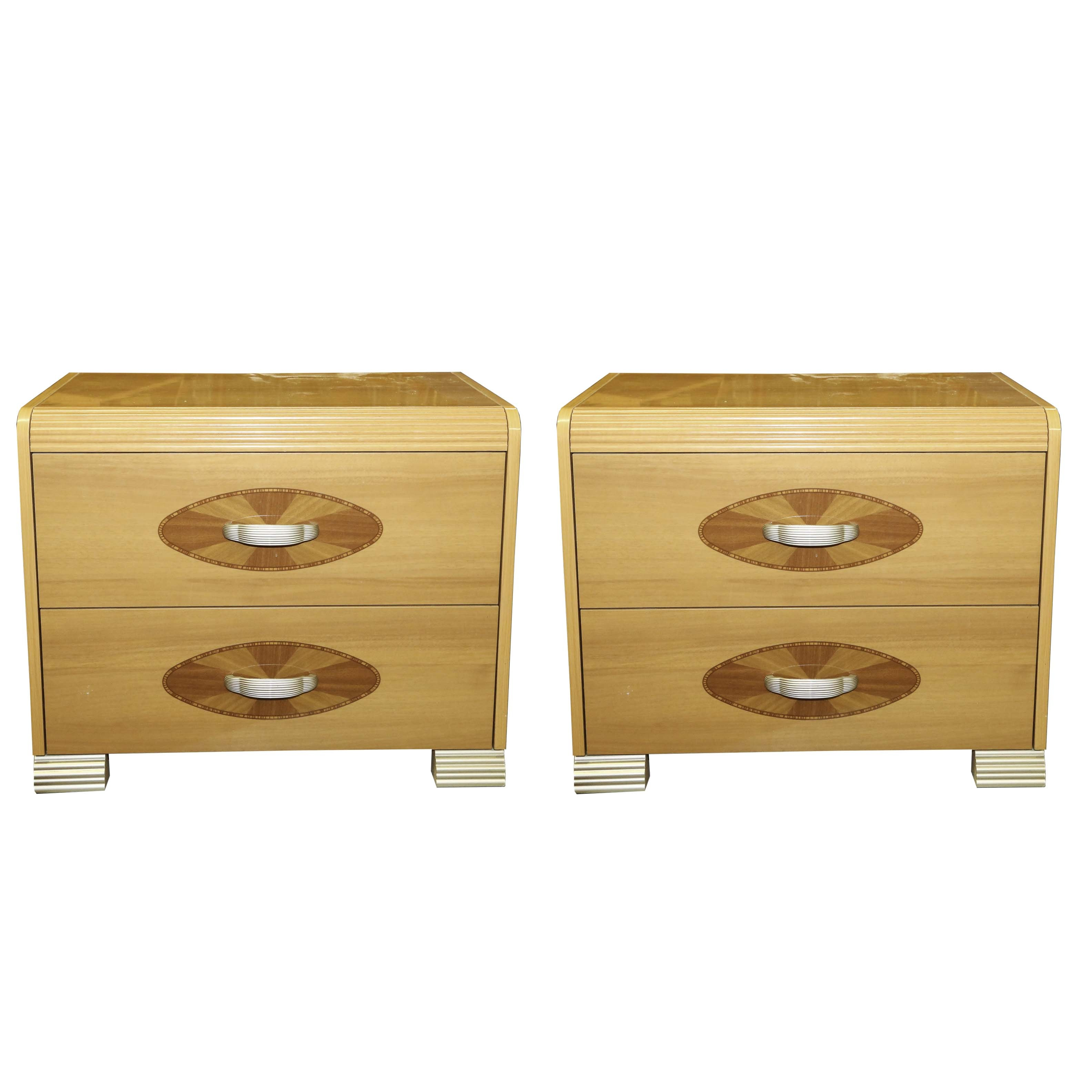 Art Deco Style Bedside Chests by Friul Cassetti