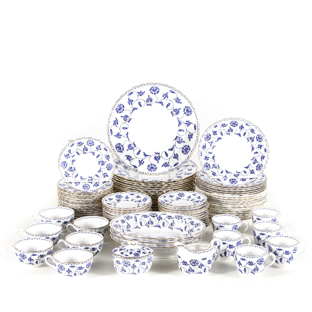 "Set of Spode, ""Colonel Blue "" Bone China"