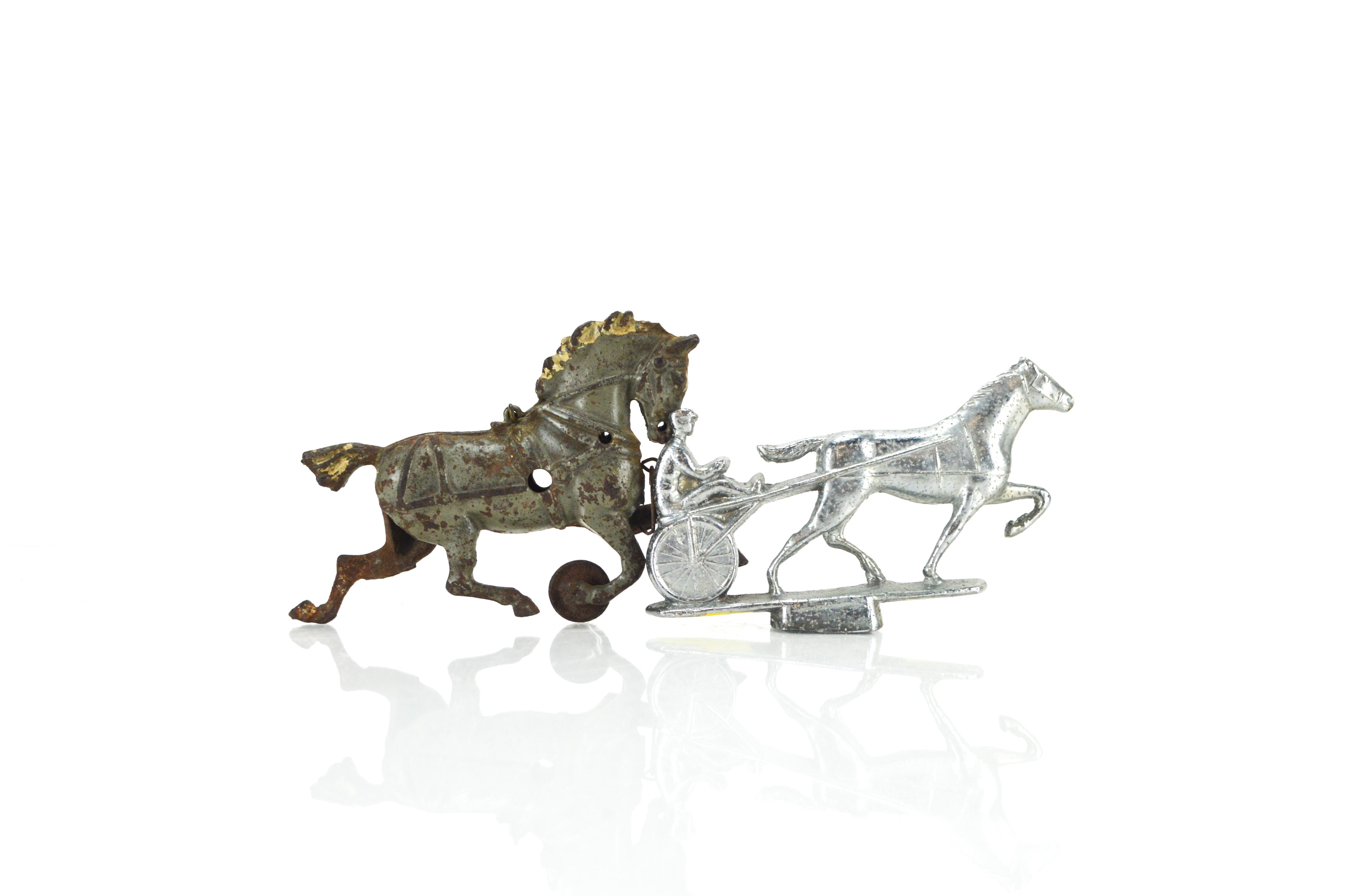Vintage Metal  Horse Toy and Hood Ornament