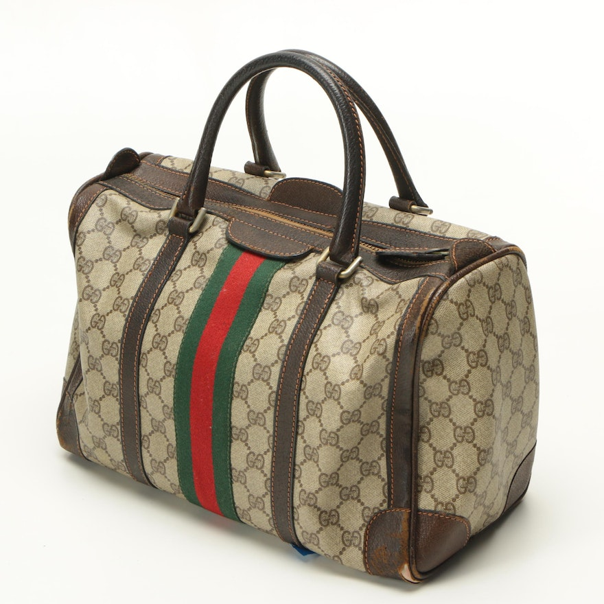 Vintage Gucci Supreme Canvas Duffel Bag   EBTH ea48c5671565