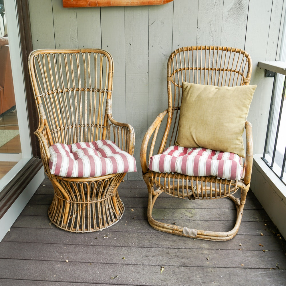 Bamboo and Rattan Patio Chairs