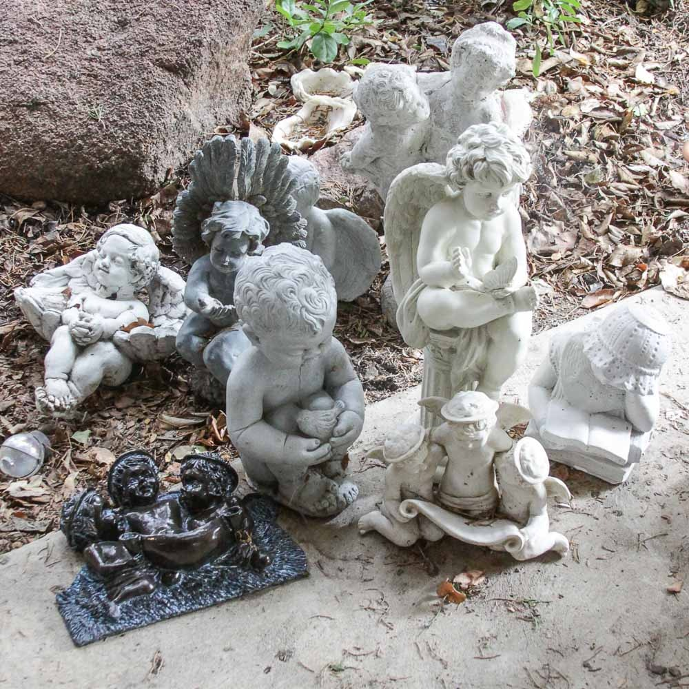 Garden Sculptures of Cherubs and Children