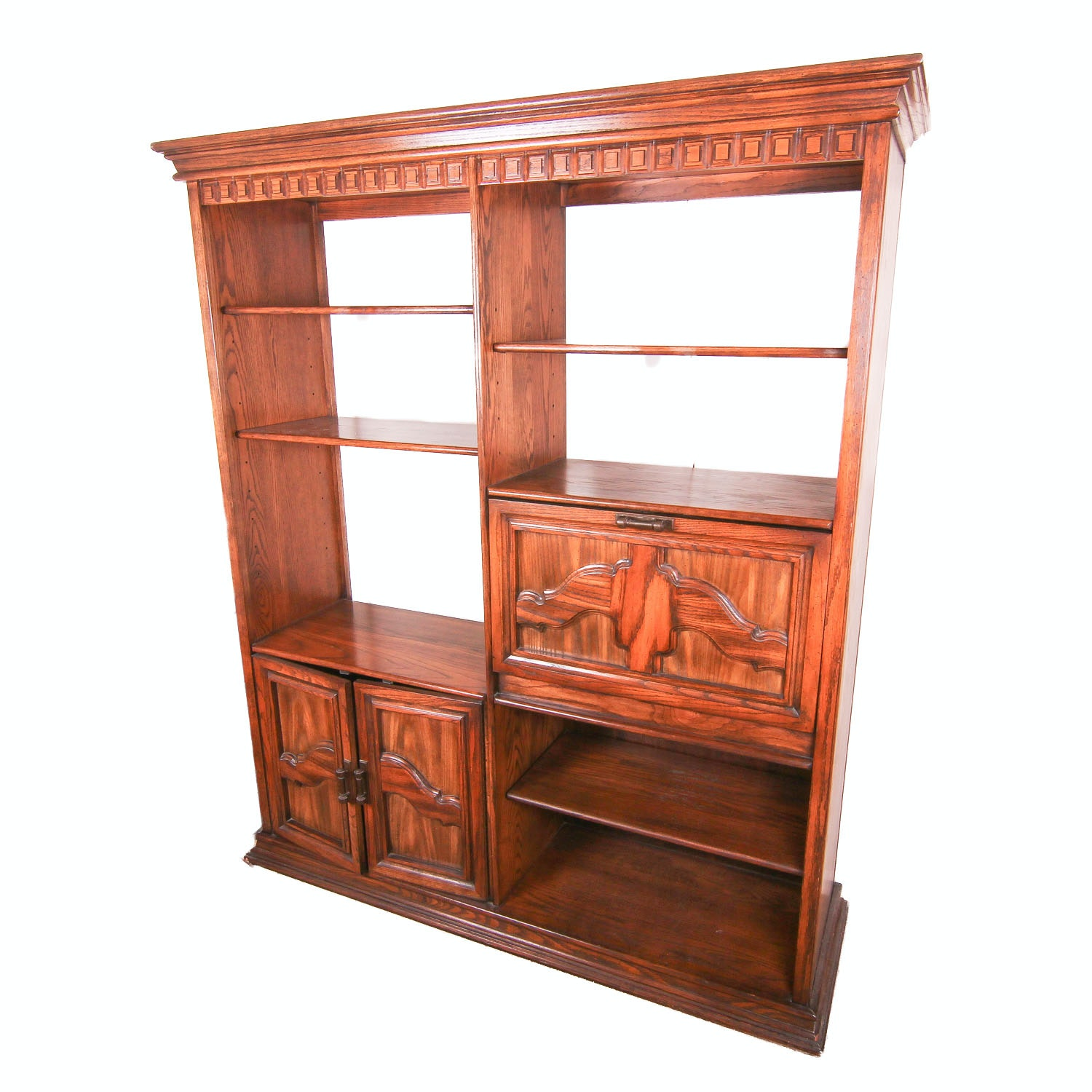 Carved Wood Entertainment Center