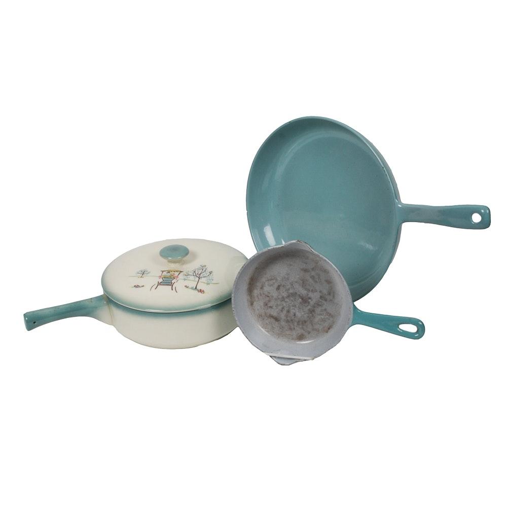Prizerware Enamel Pan and Other Vintage Kitchenalia