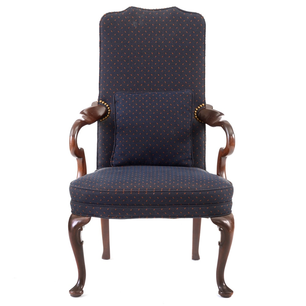 Queen Anne Style Armchair by Hickory Chair