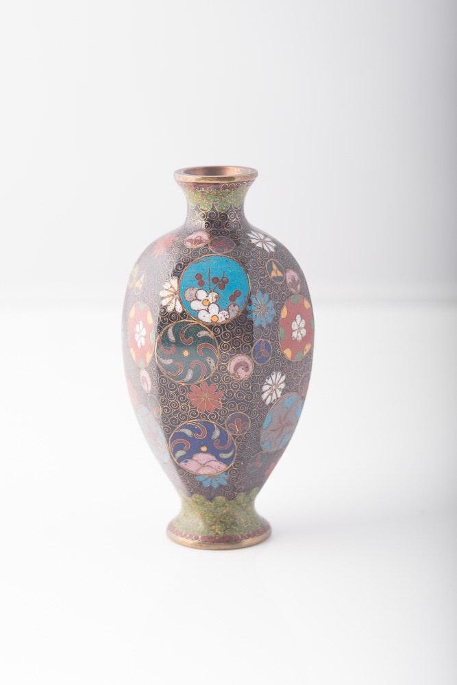 Meiji Era Japanese Cloisonne Vase