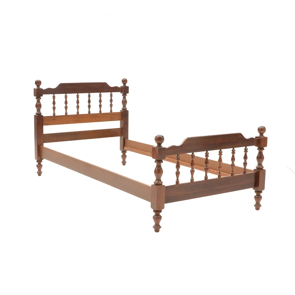 Cherry Finish Twin Size Bed Frame