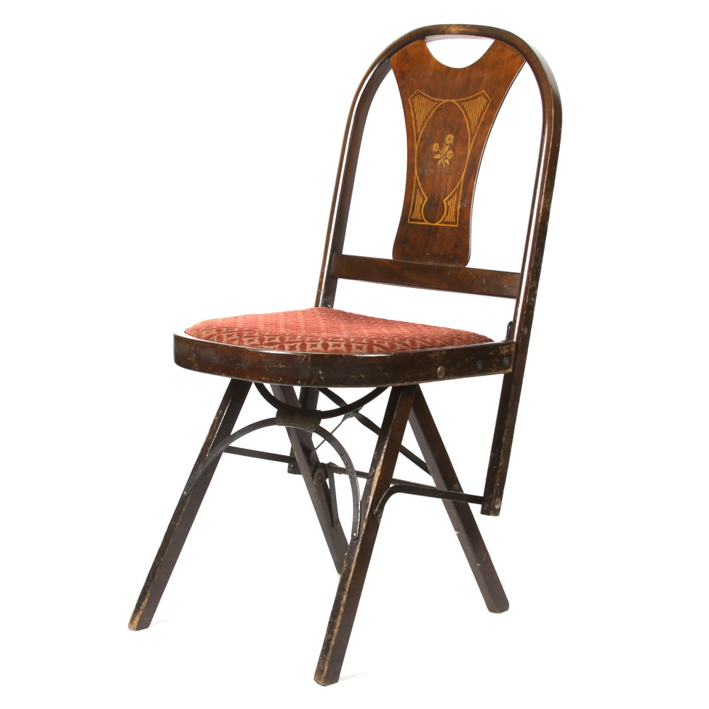 "Early 20th Century ""Solid Kumfort Folding Chair"" by Louis Rastetter & Sons Co."