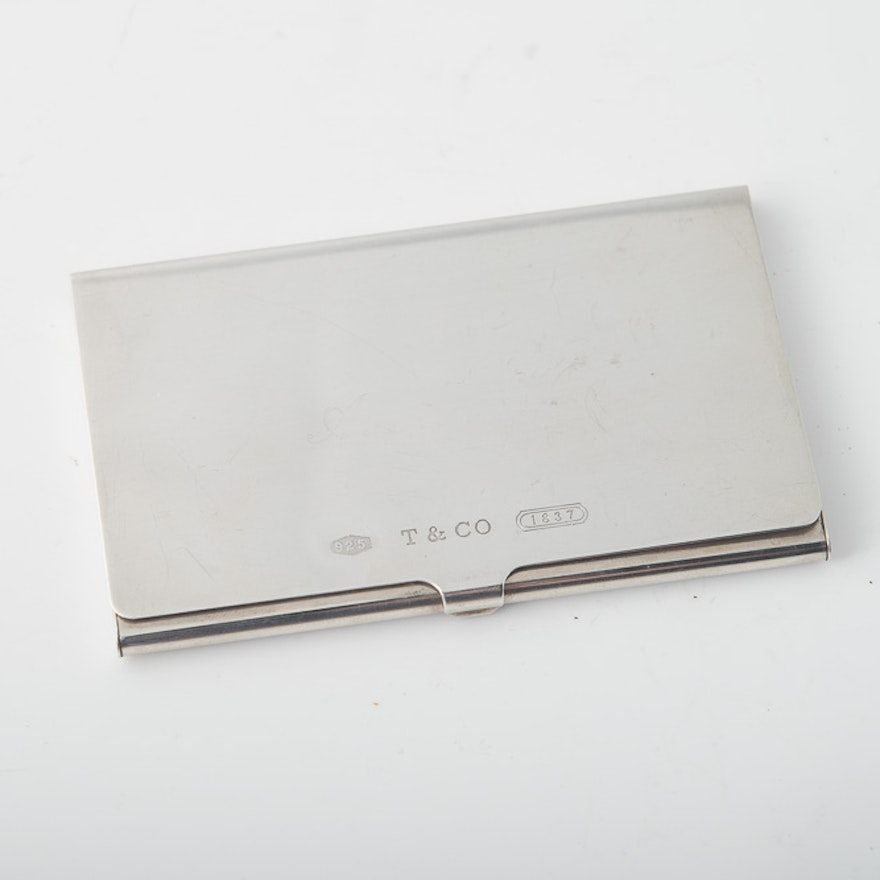 release date e6fd5 9cf62 Vintage Tiffany & Co. Sterling Silver Card Case
