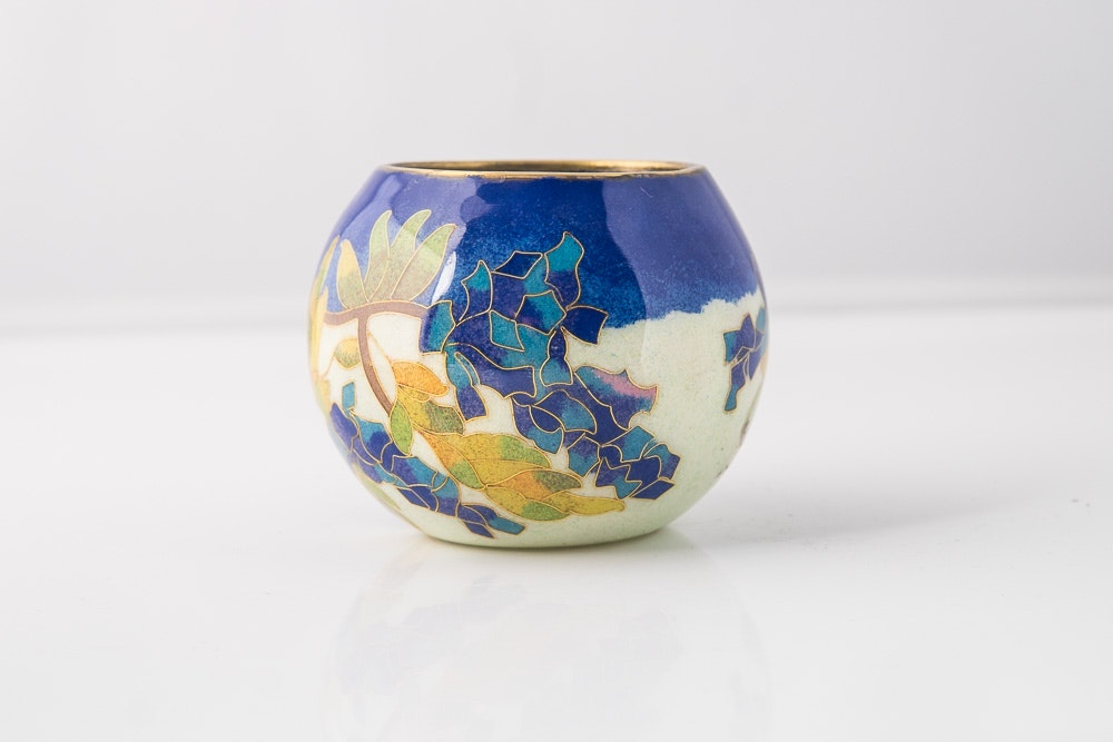 Chinese Transparent Cloisonne Vase