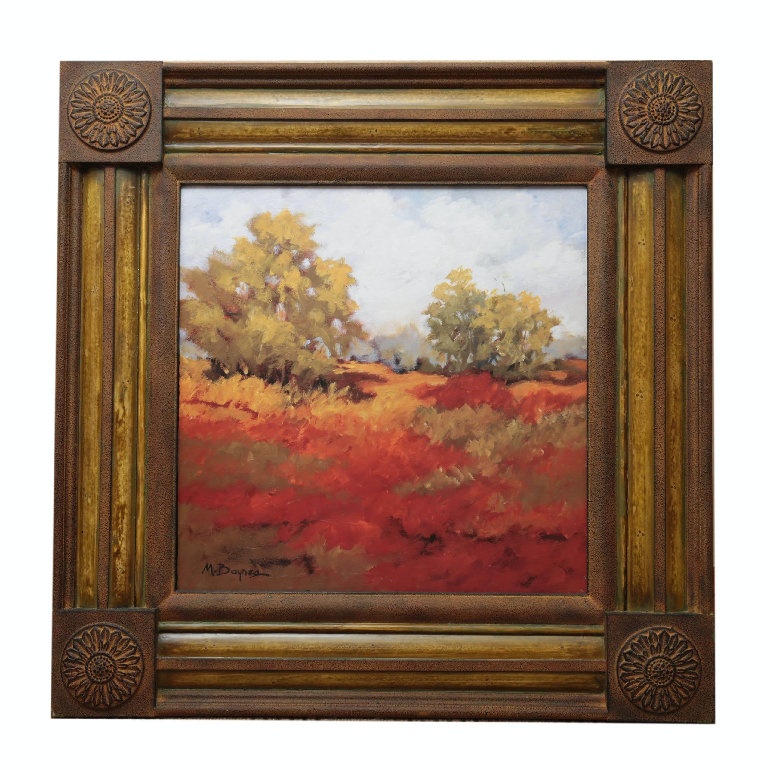 M. Baynes Original Framed Landscape Oil Painting
