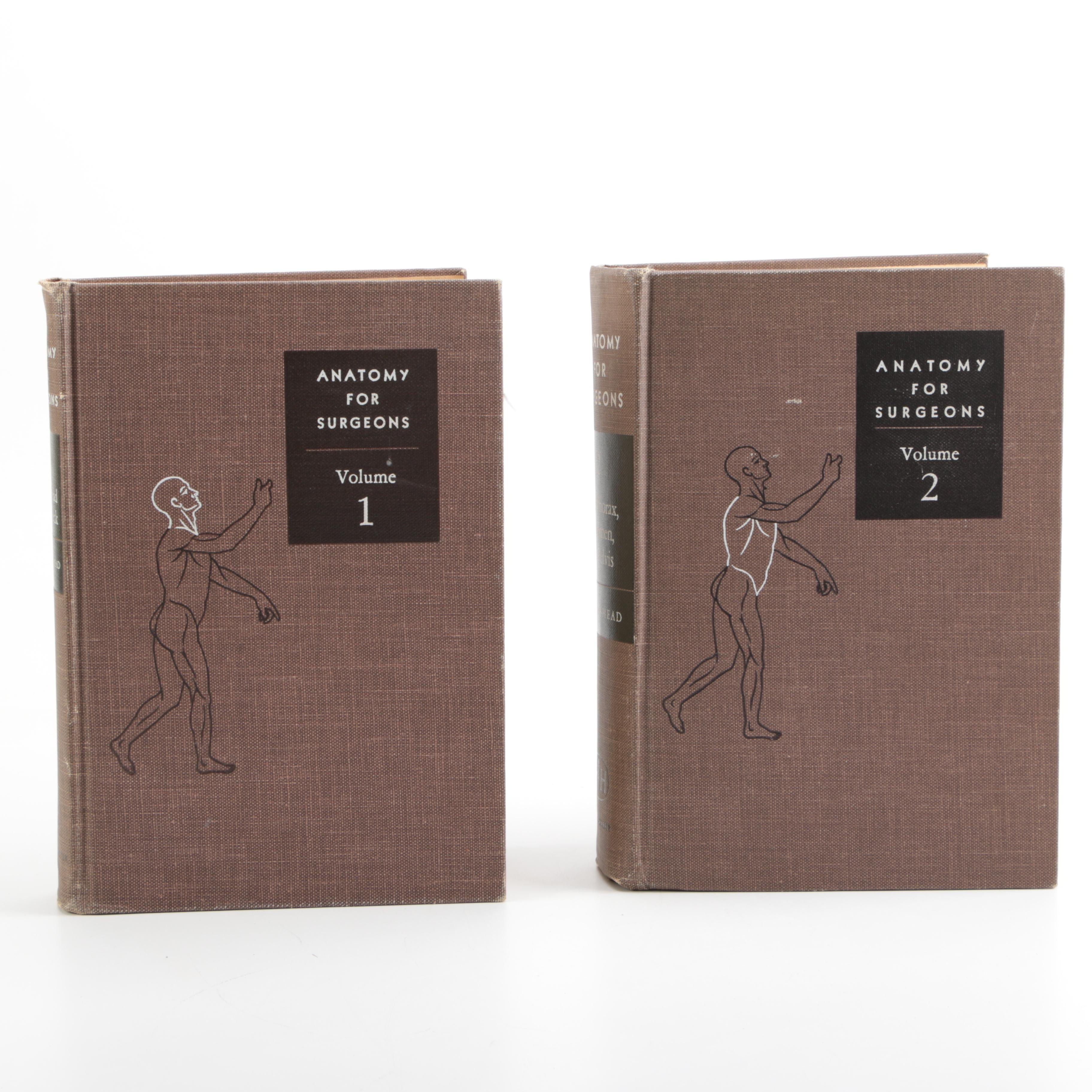 """1950s Two Volumes of """"Anatomy For Surgeons"""" by W. Henry Hollinshead"""