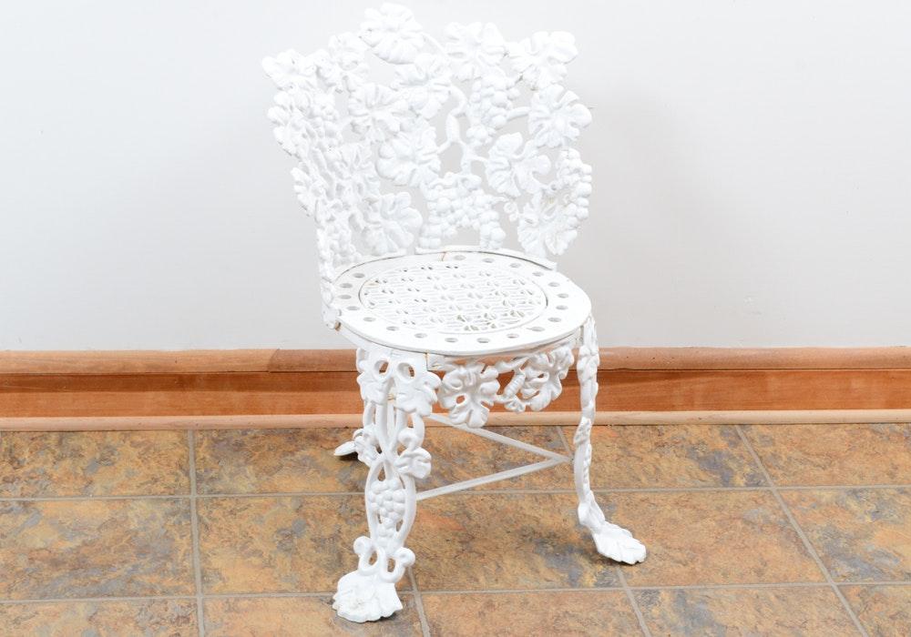 Cast Metal Three Leg Garden Chair