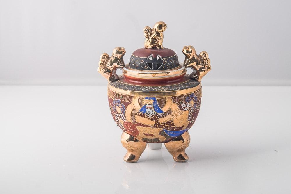 Satsuma Porcelain Incense Burner