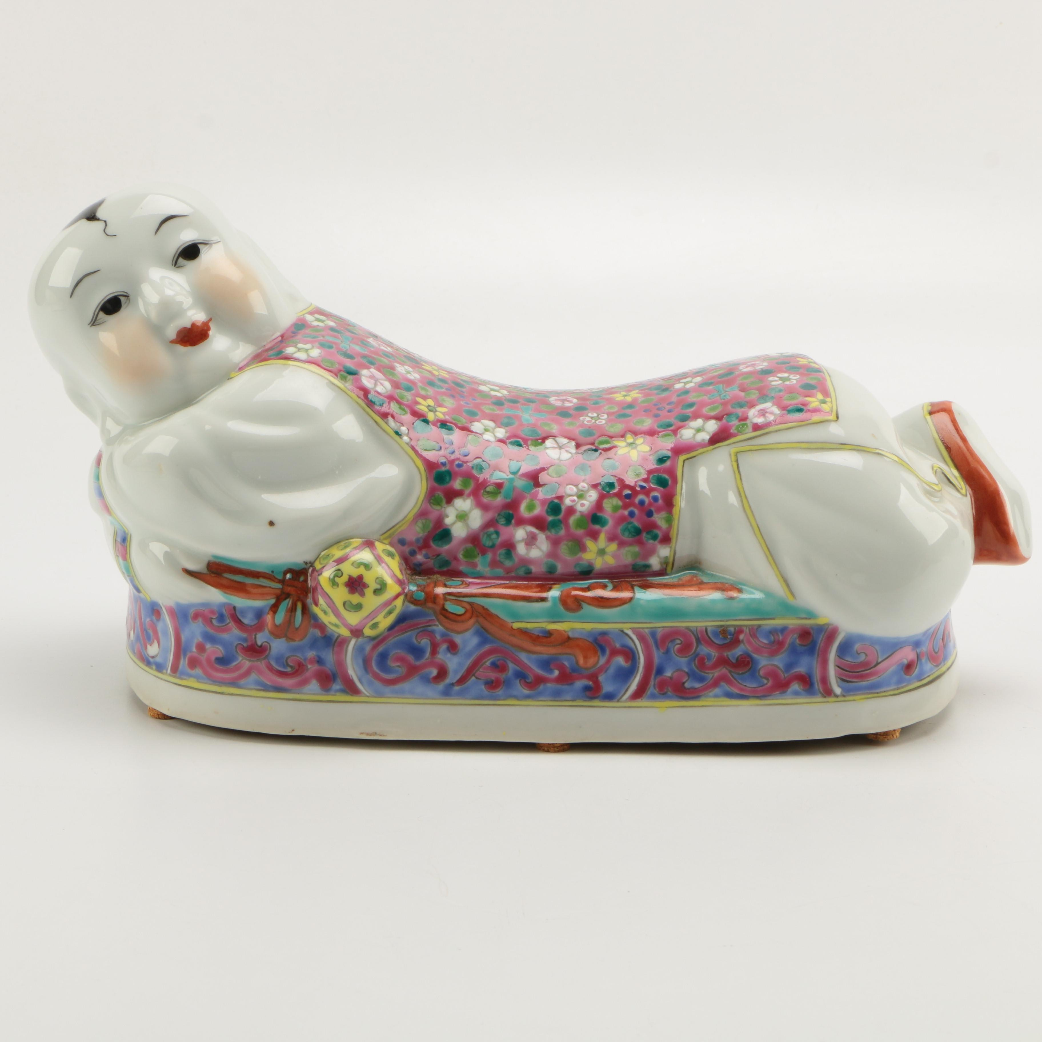 Chinese Style Porcelain Head Rest