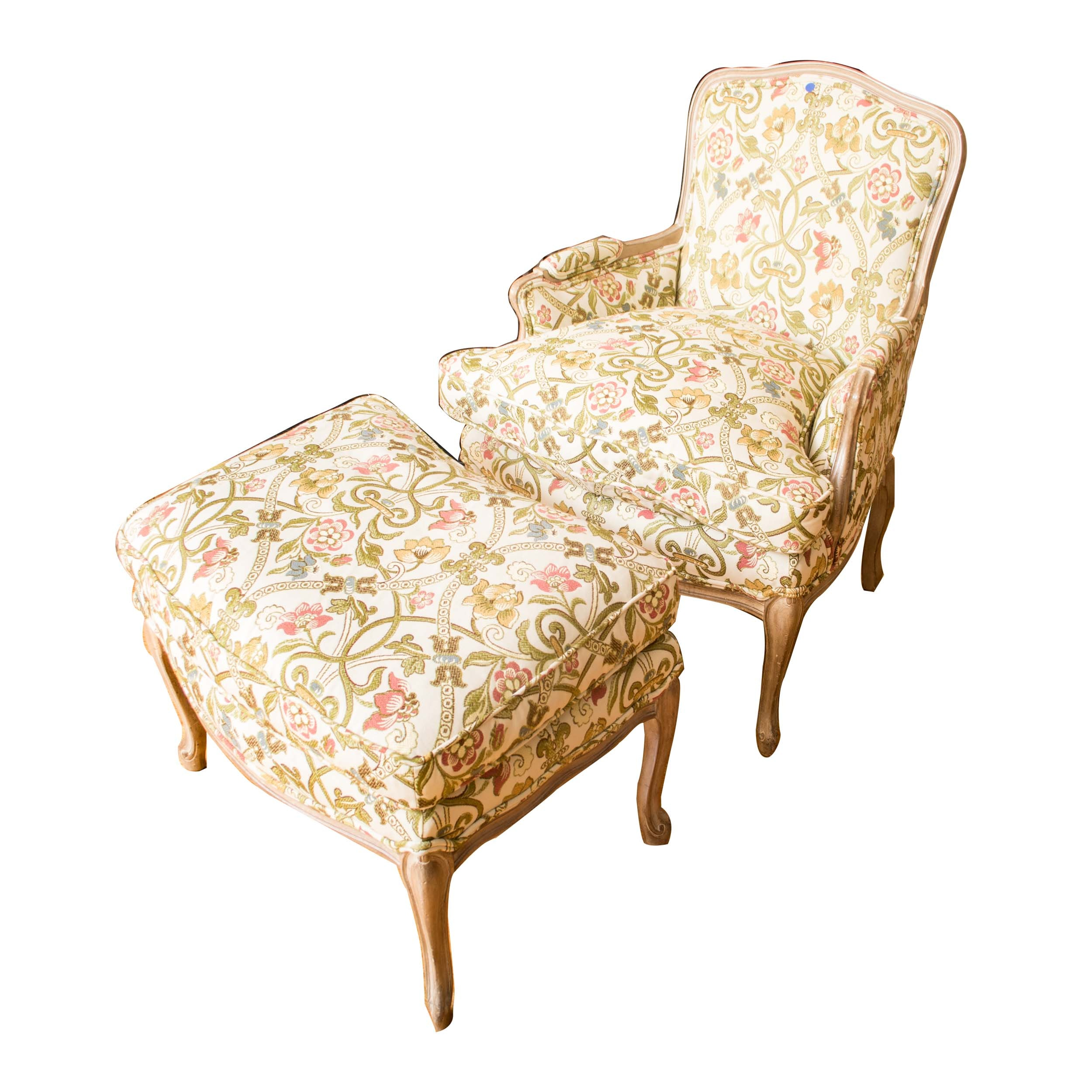 Bergère Chair and Ottoman
