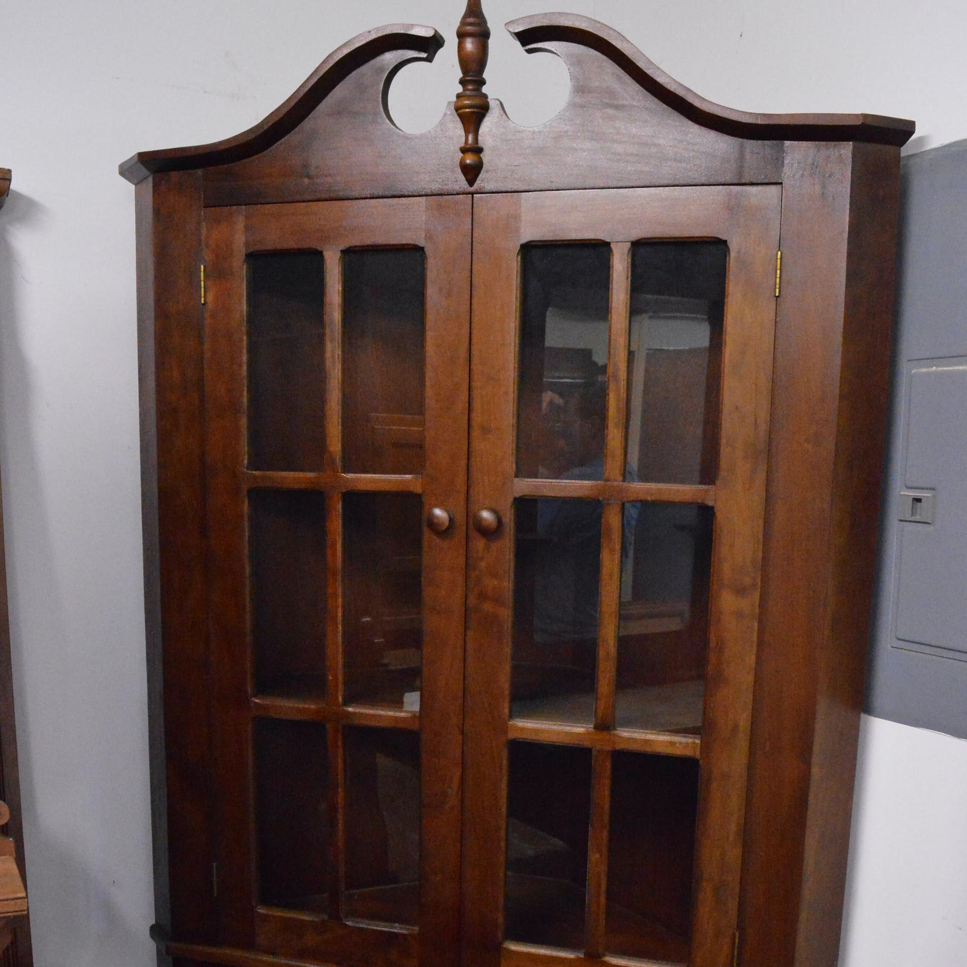 Vintage Federal Style Cherry Corner Cabinet