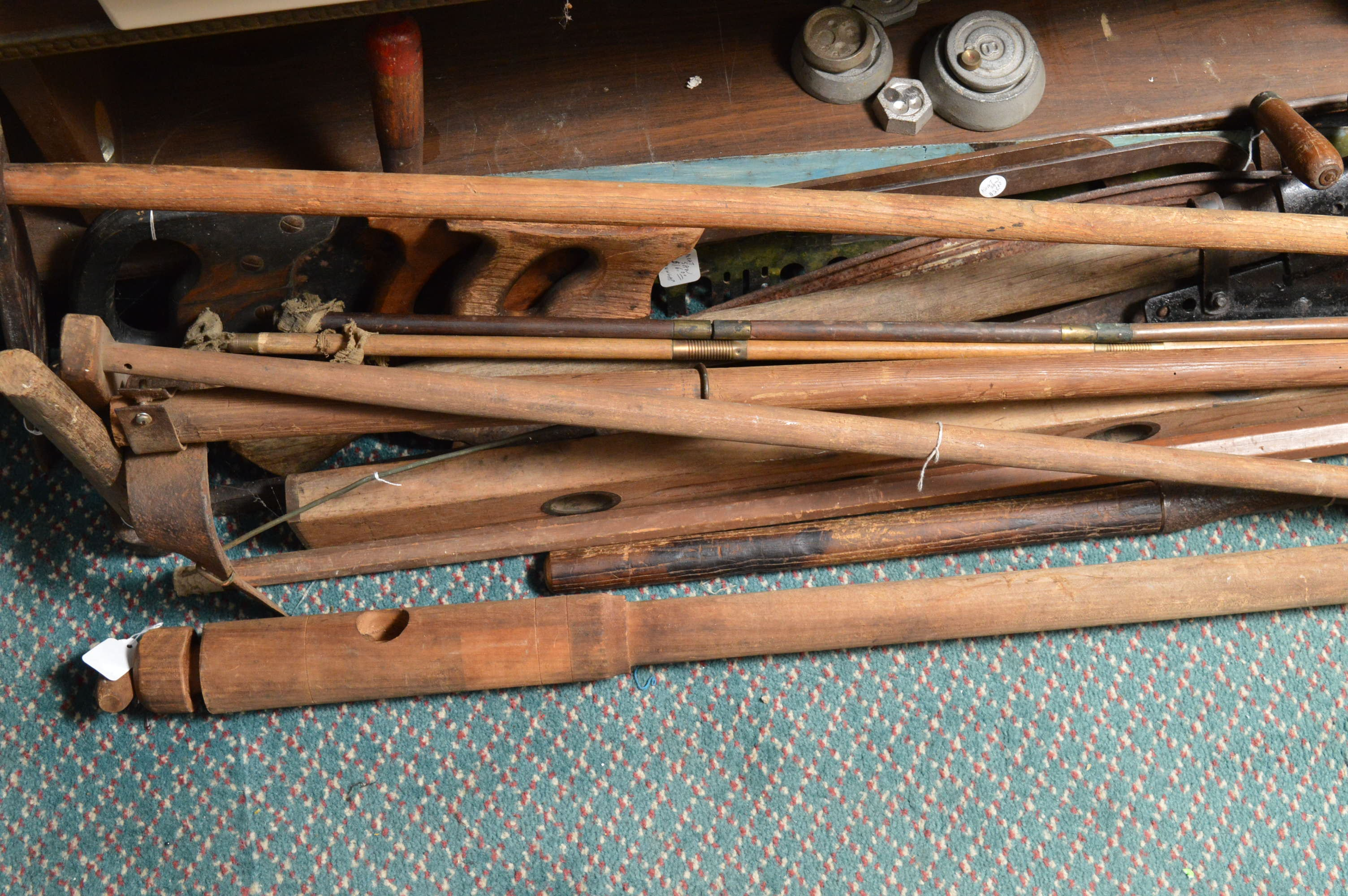 Antique and Vintage Oversized Wooden Tools