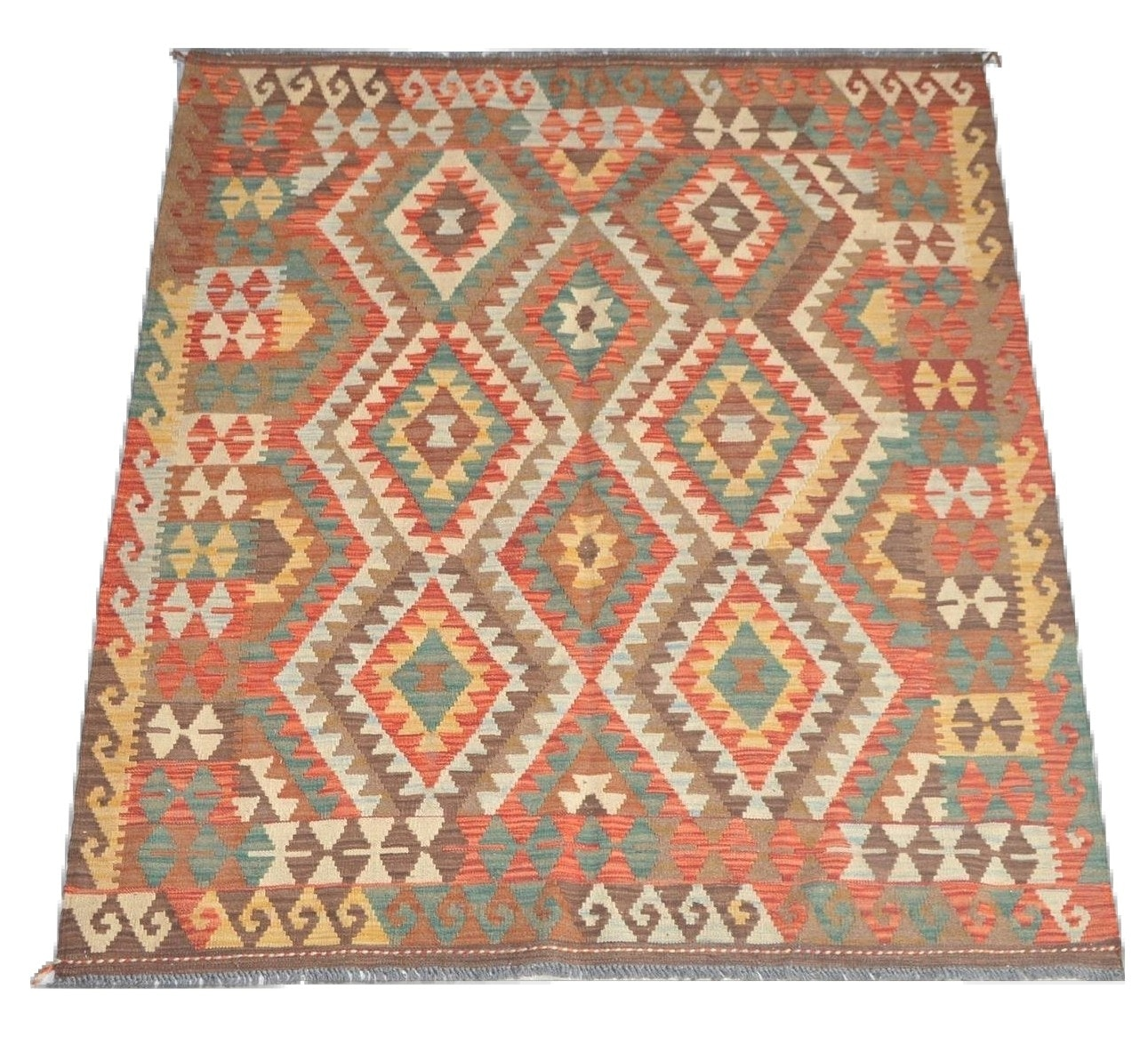 Handwoven Kilim Wool Area Rug