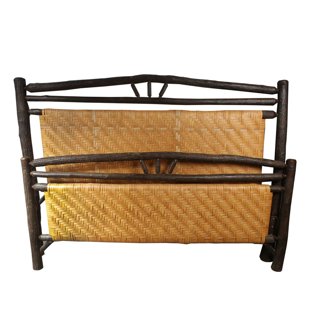 """Handcrafted """"Old Hickory"""" Lodge-Style King Size Bed"""