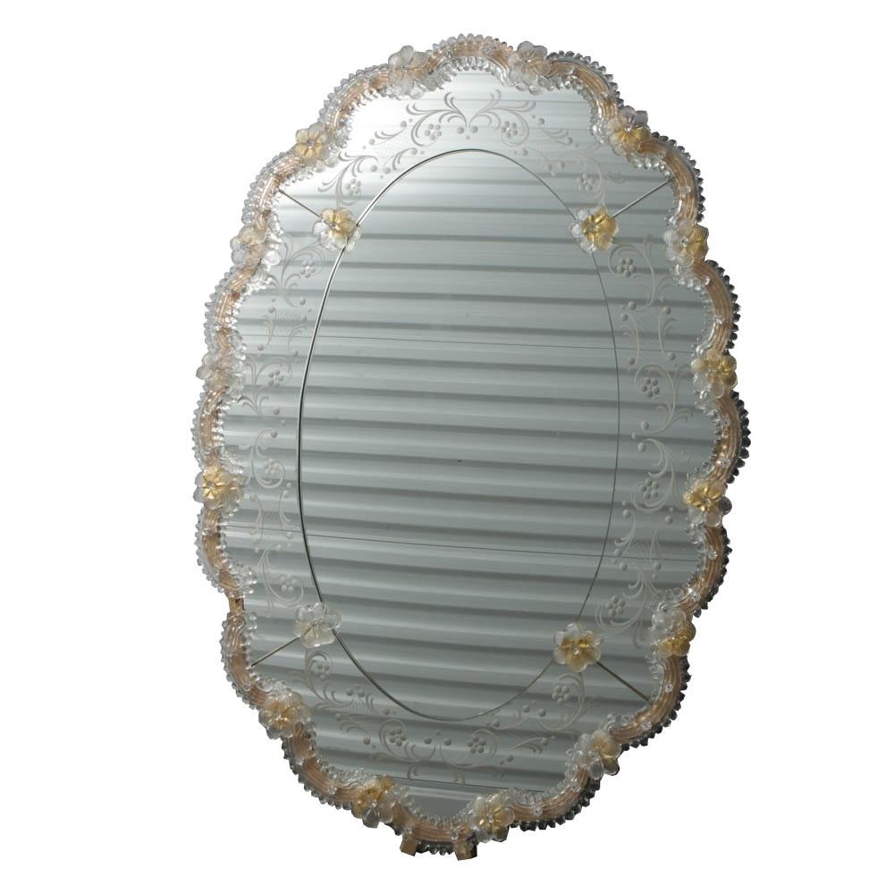 Ornate Venetian Glass Wall Mirror