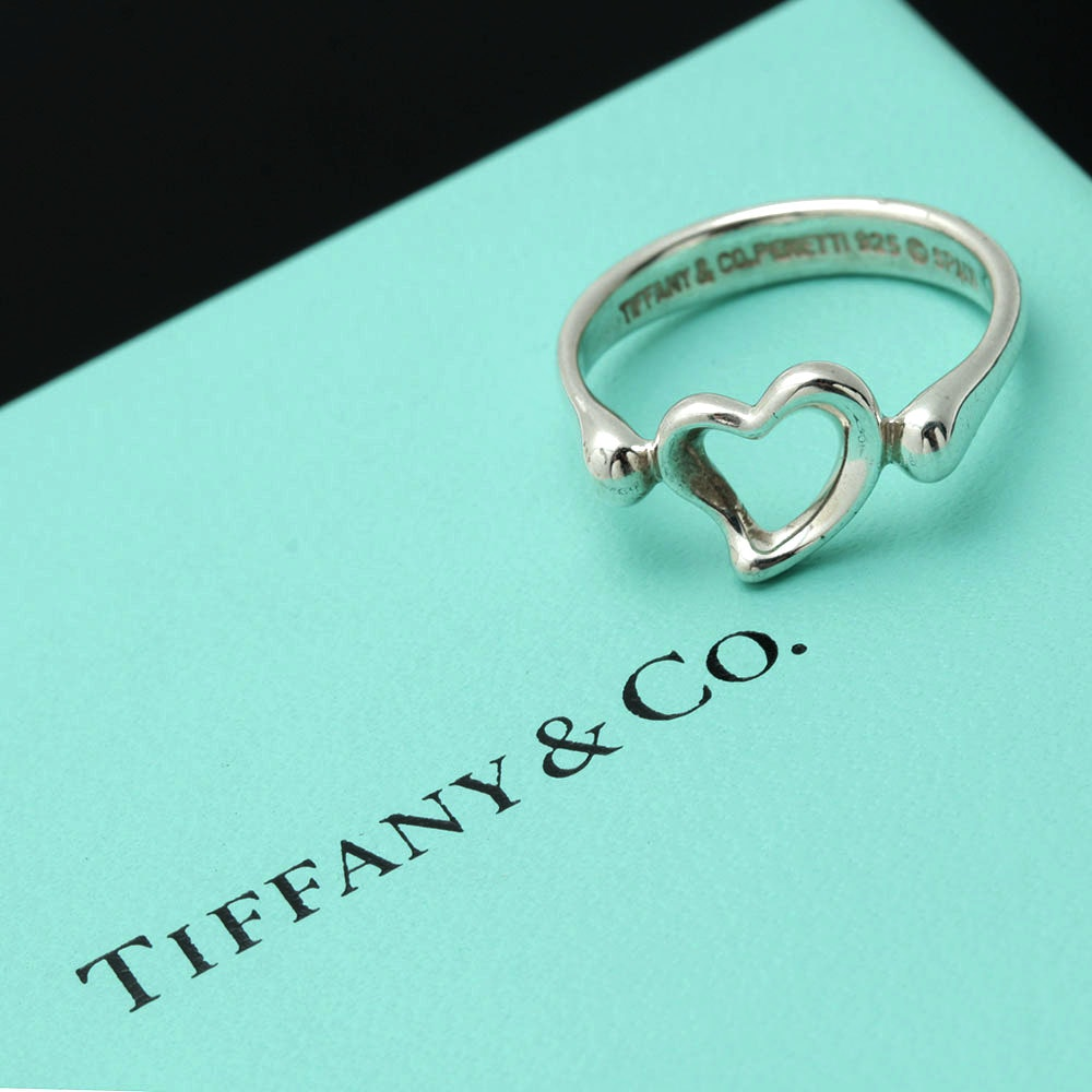 "Elsa Peretti for Tiffany & Co. ""Open Heart"" Sterling Silver Ring"